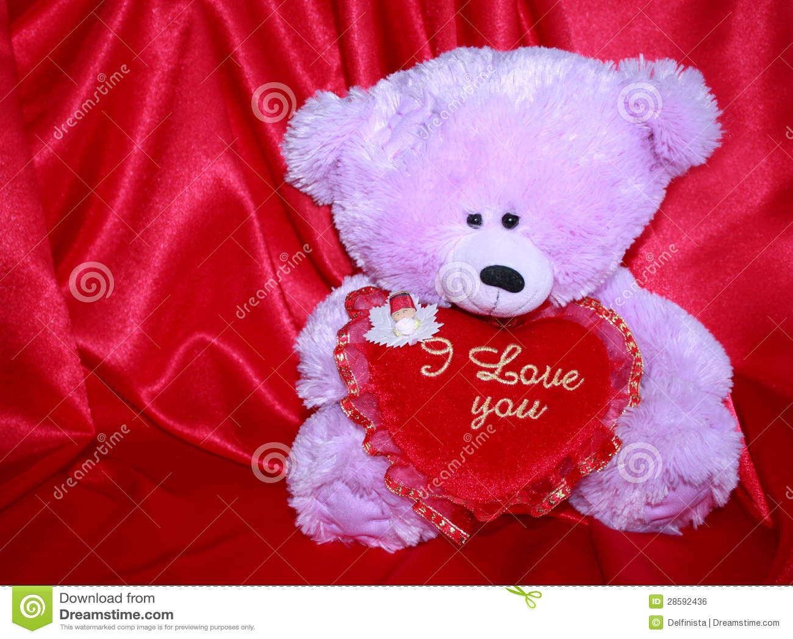 carte d 39 ours de nounours avec le coeur rouge d 39 amour. Black Bedroom Furniture Sets. Home Design Ideas