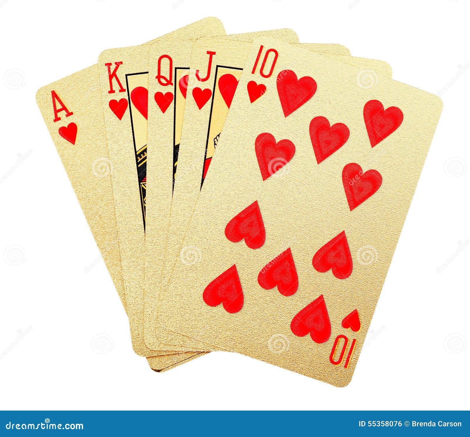 Carte da gioco spazzolate oro
