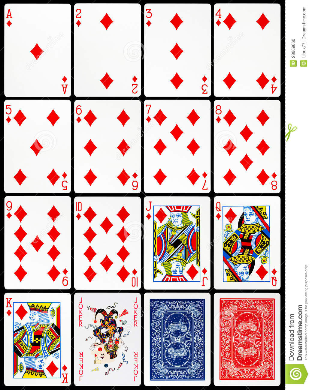 Playing card template