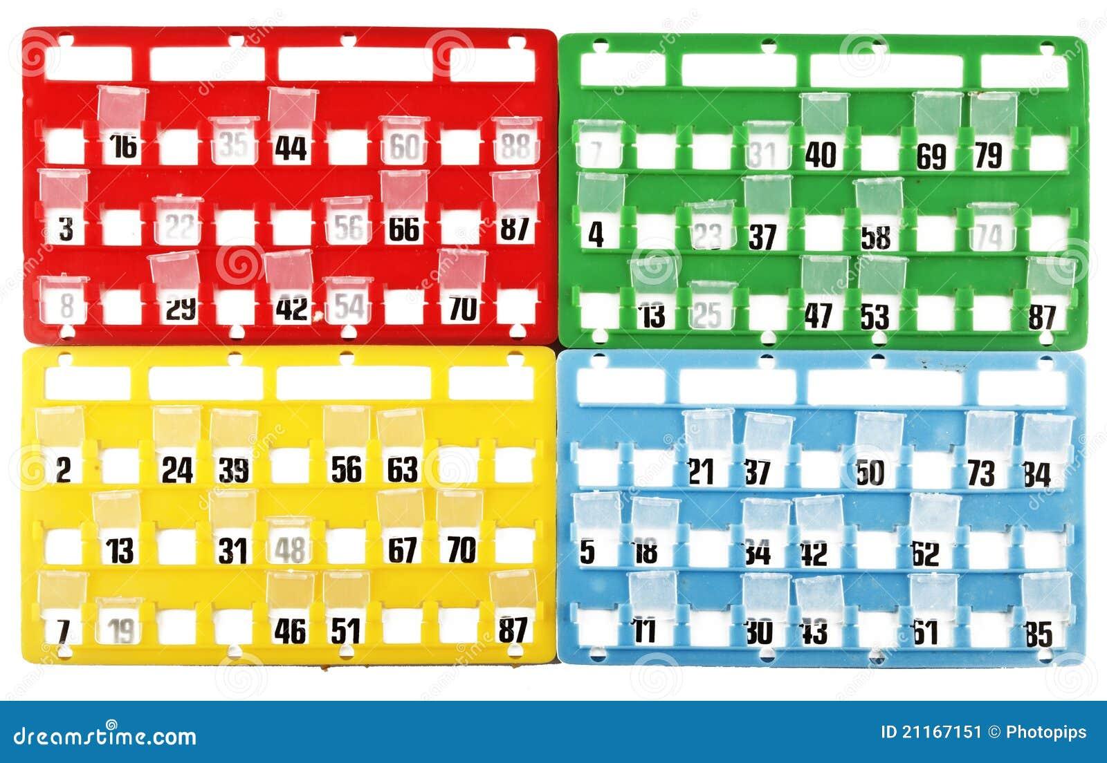 Célèbre Carte De Bingo-test Image stock - Image: 21167151 YC09