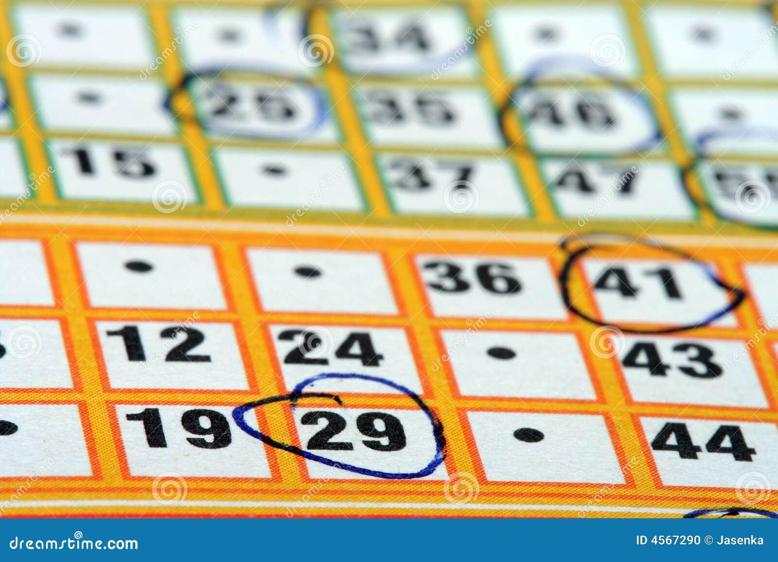 Carte de bingo-test
