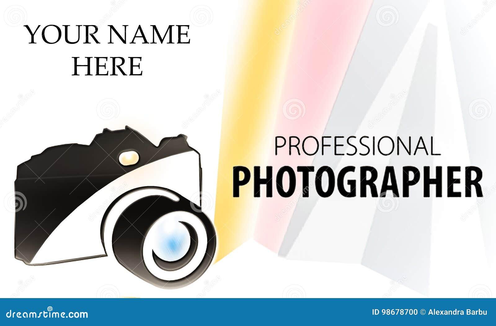 Carte De Bisiness Logo D Appareil Photo