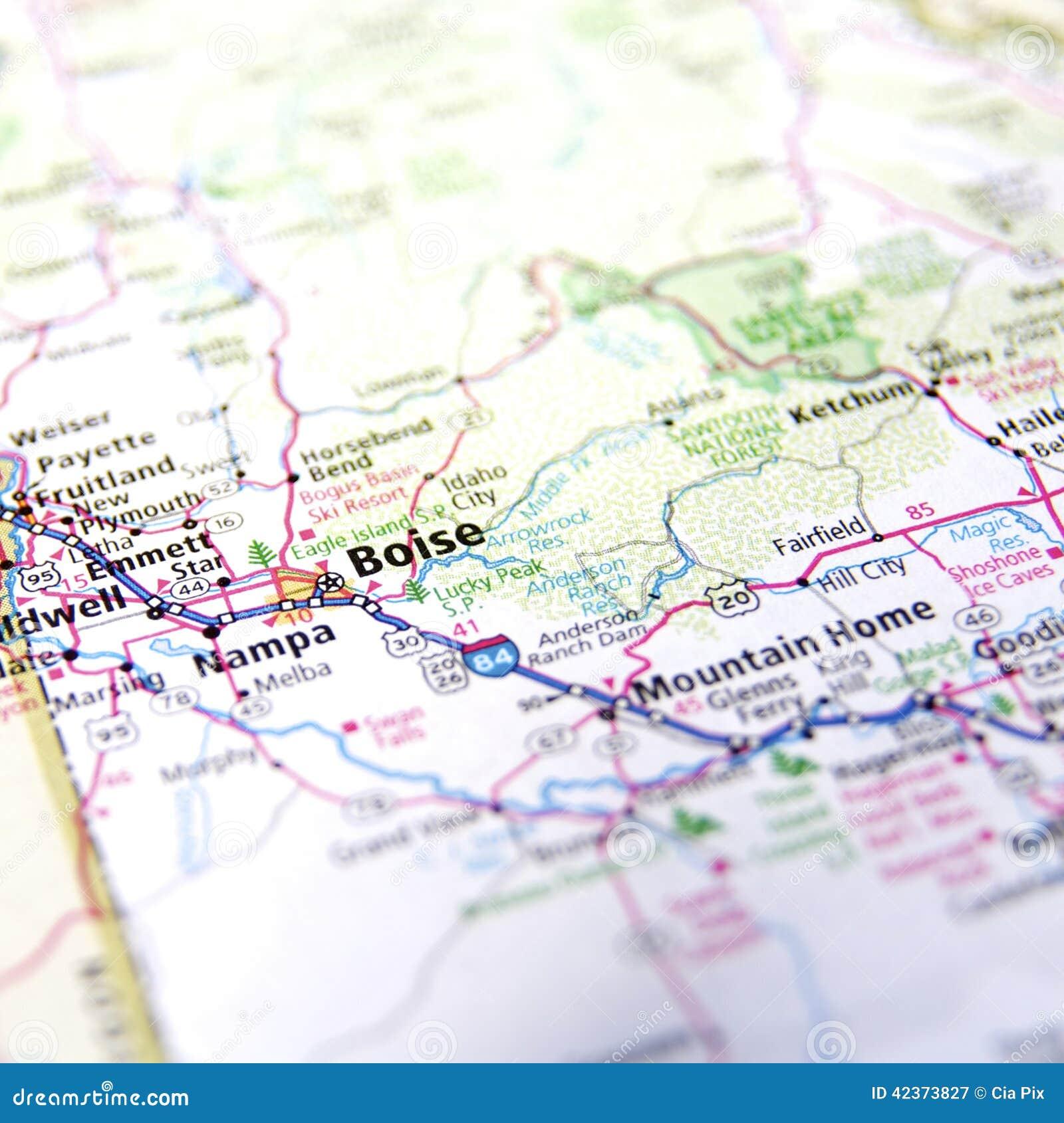 Carte de Boise
