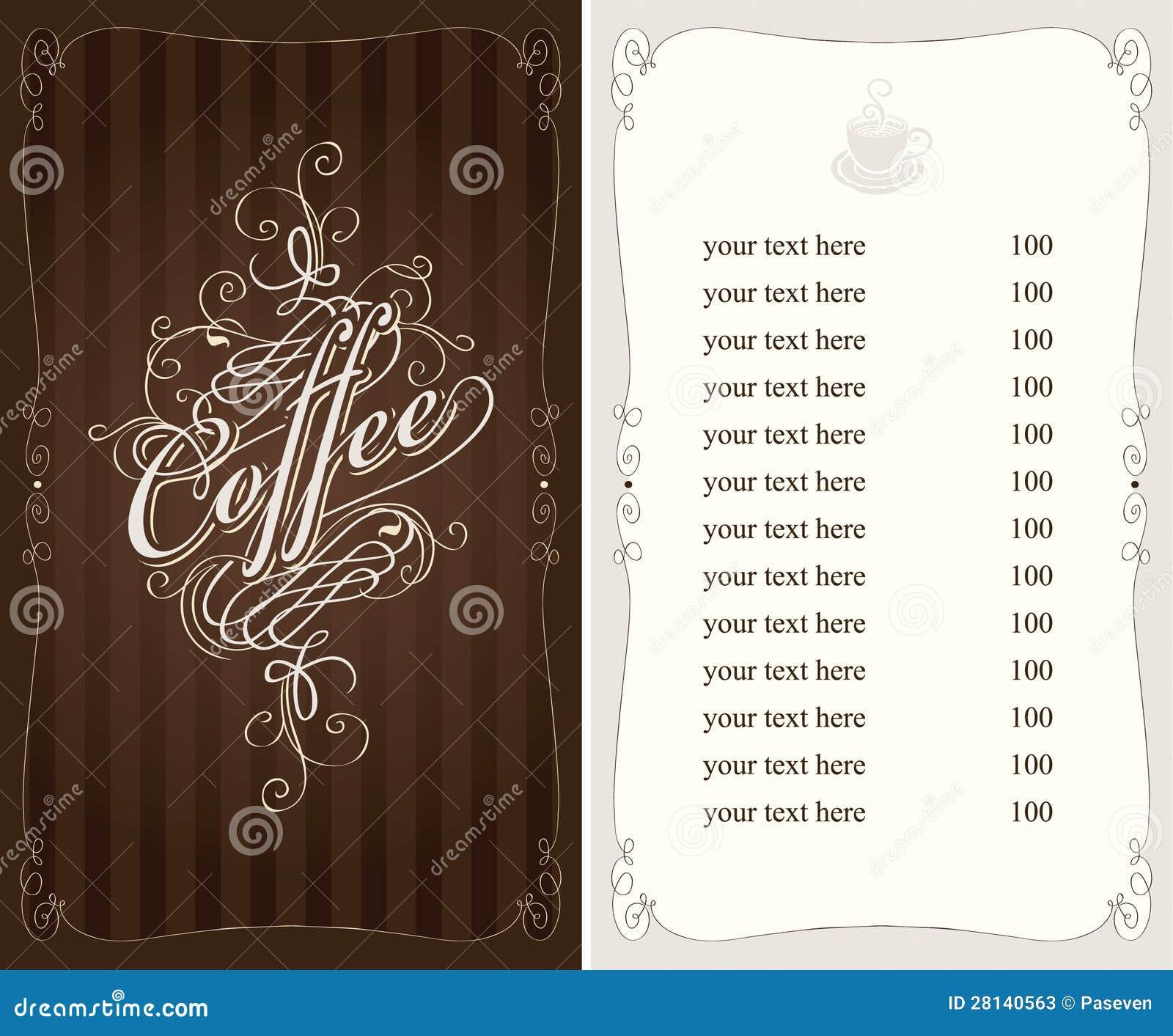 Carte de café