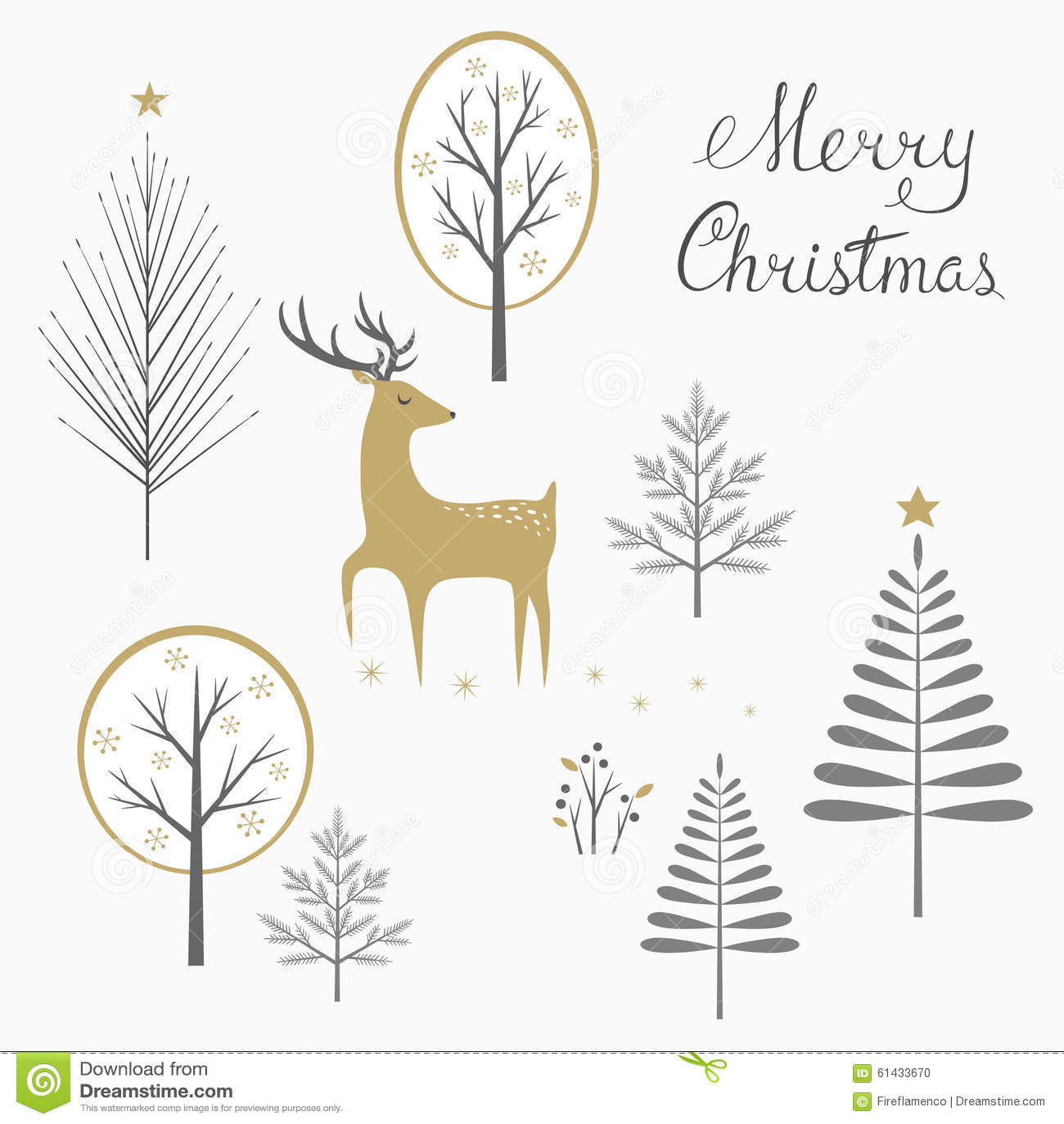 Carte de cerfs communs de Noël