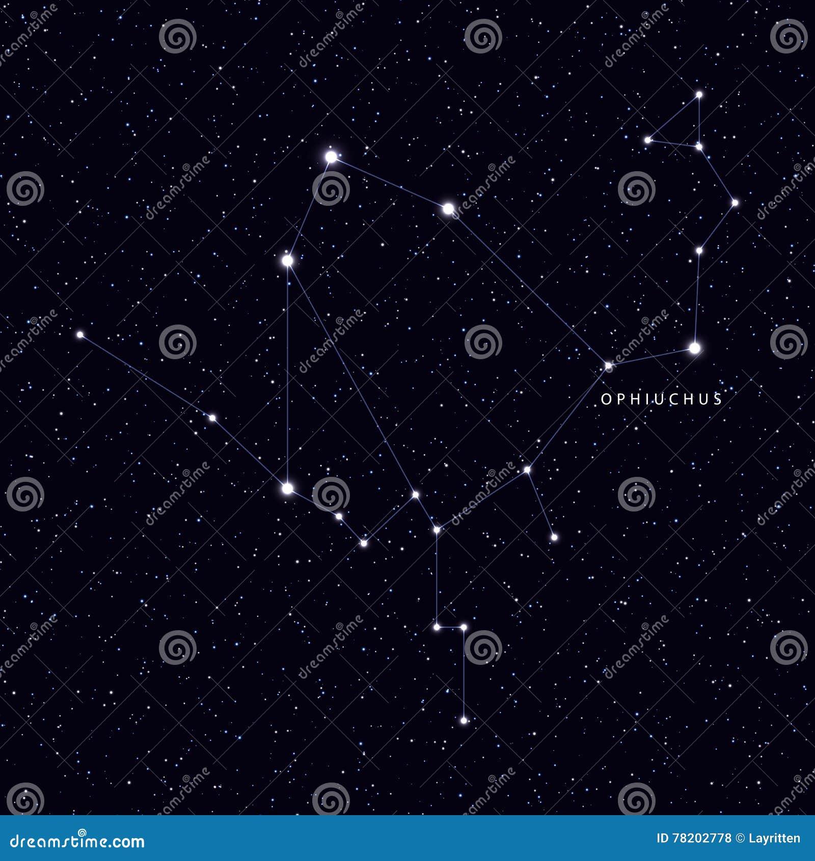 Favori Carte De Ciel Avec Le Nom Des étoiles Et Des Constellations  EU49