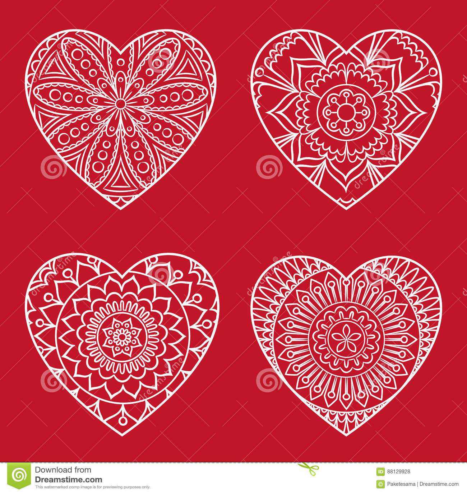 Coloriage Coeur Mariage.Carte De Coeur De Griffonnage Illustration De Vecteur