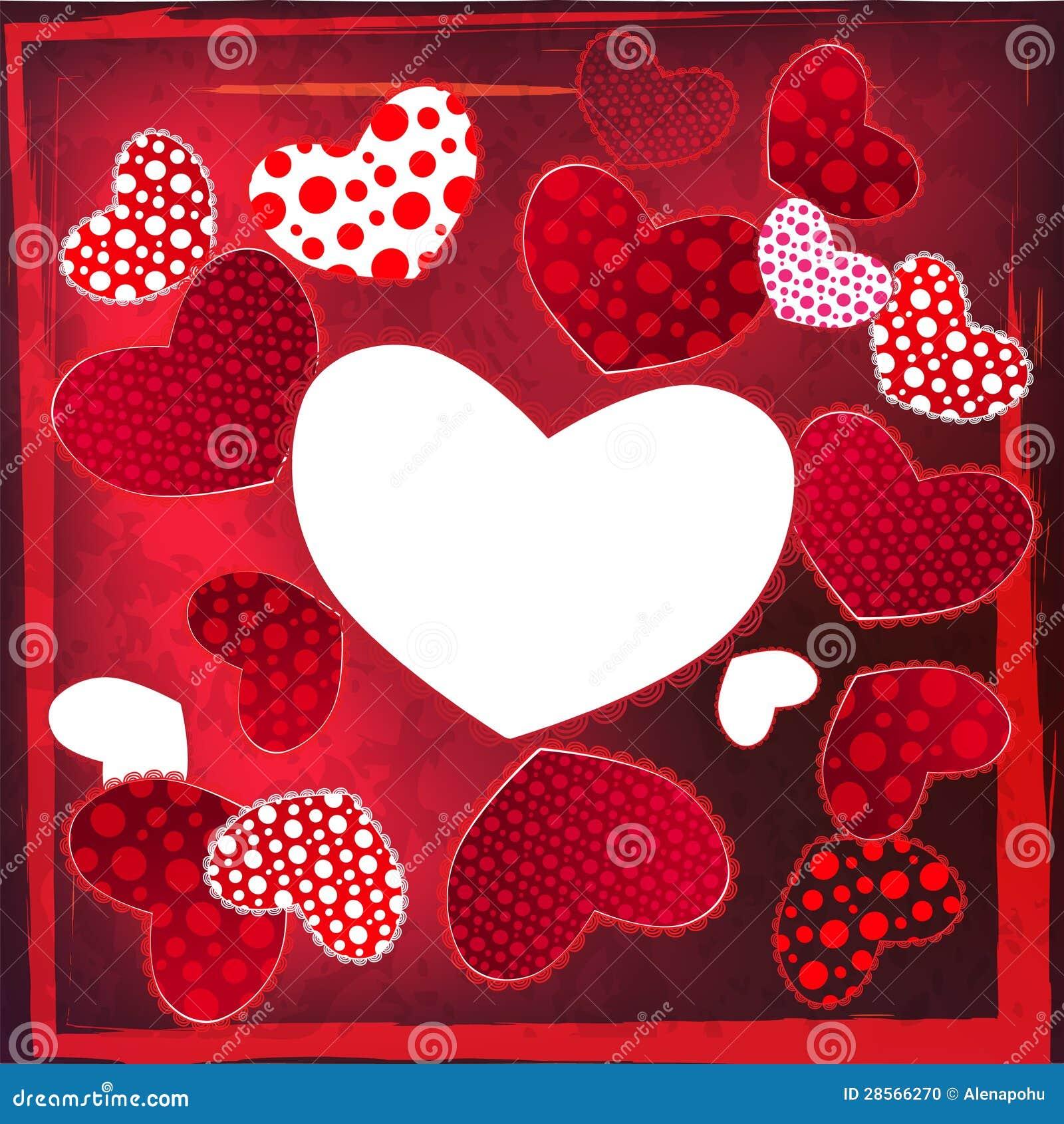Carte de coeur de mariage de saint valentin d 39 amour photo stock image 28566270 - Ceour d amour ...