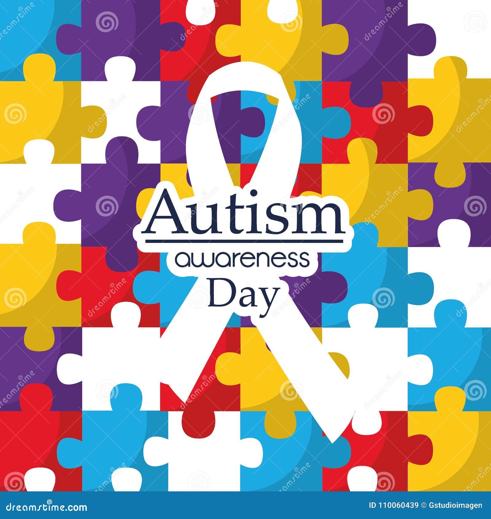 Carte de coopération d intégration de soins de jour de conscience d autisme