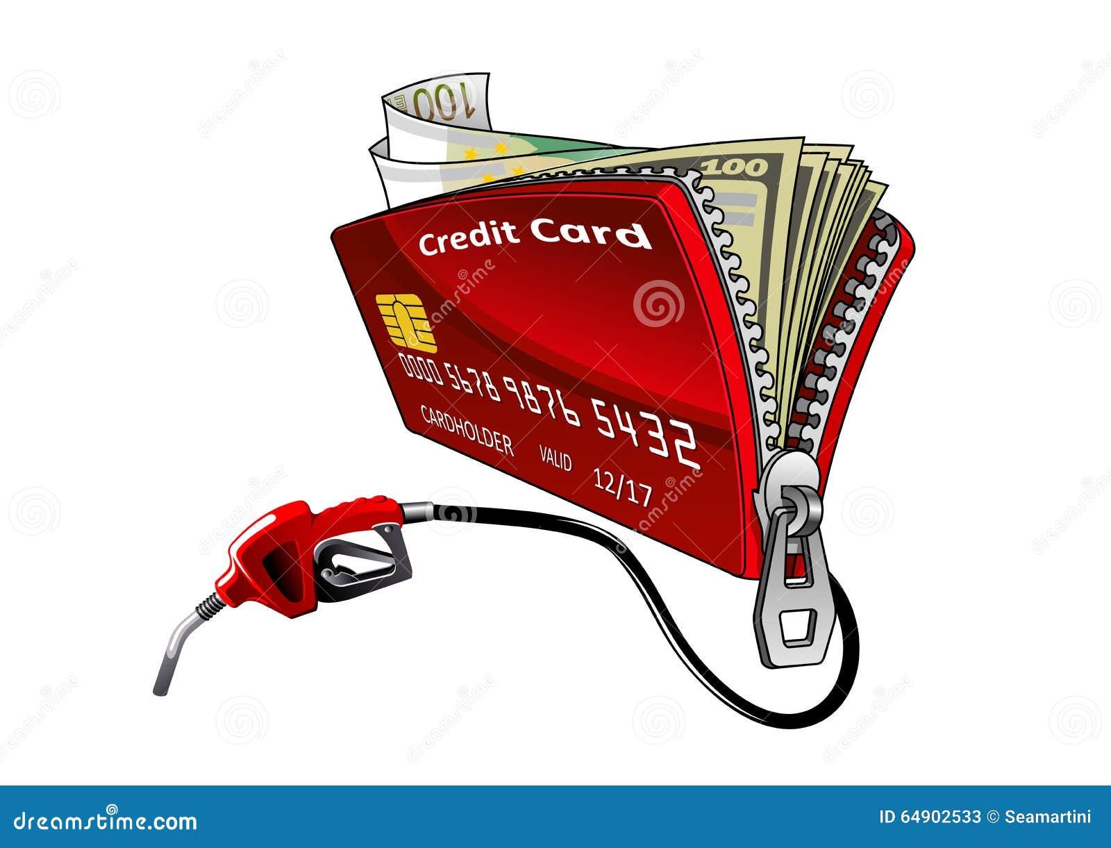 Carte Bancaire Avec Argent.Carte De Credit Avec Le Bec Et L Argent De Pompe