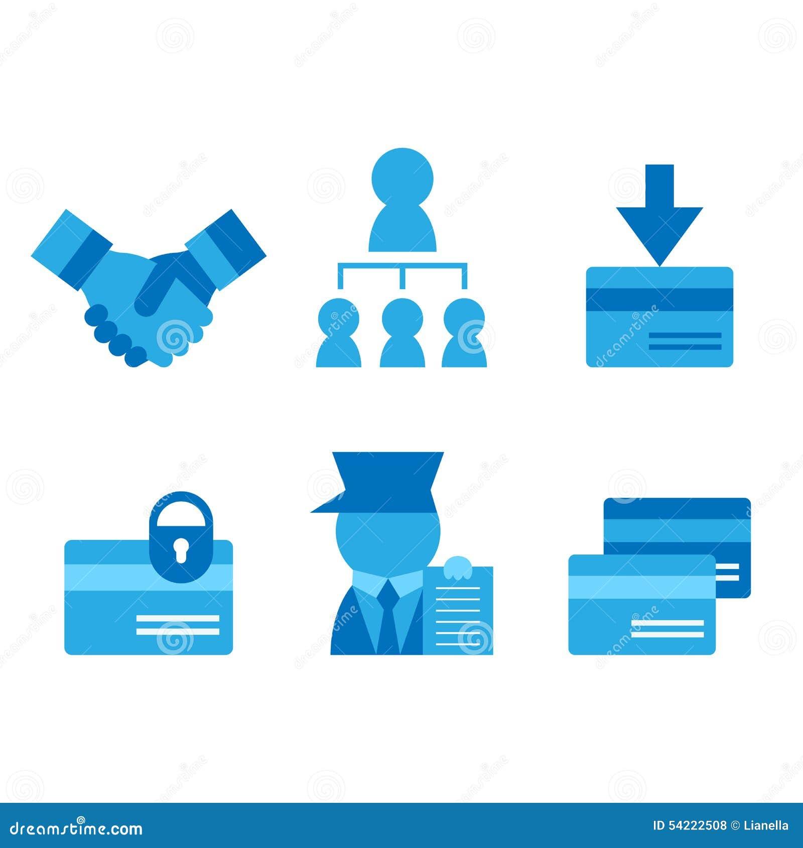 Carte De Crdit Visite Professionnelle Icnes Plates D Associations Rgles