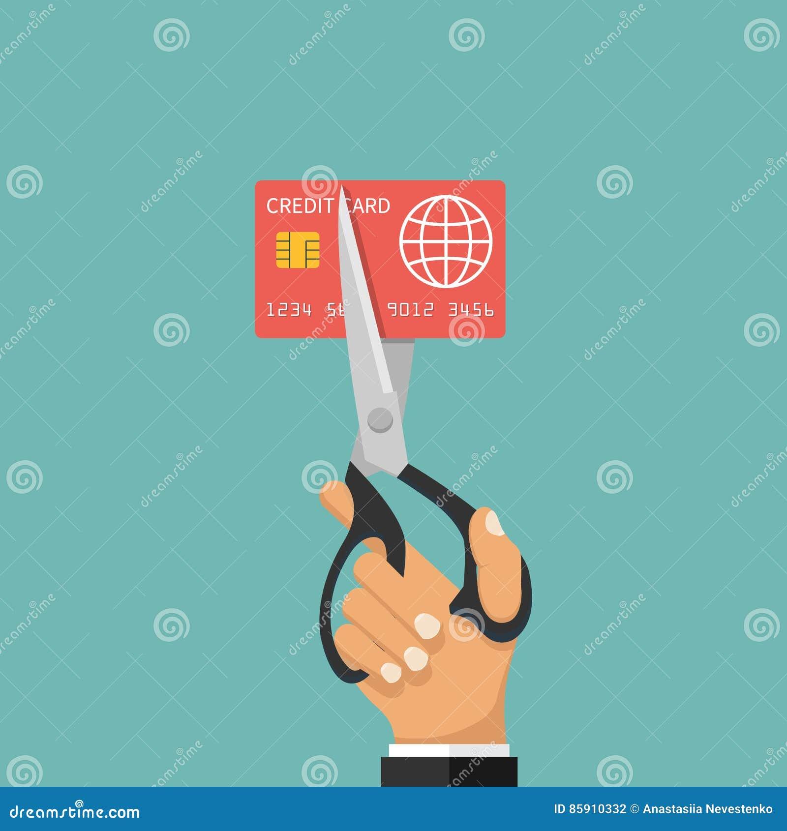 Carte de crédit de coupe