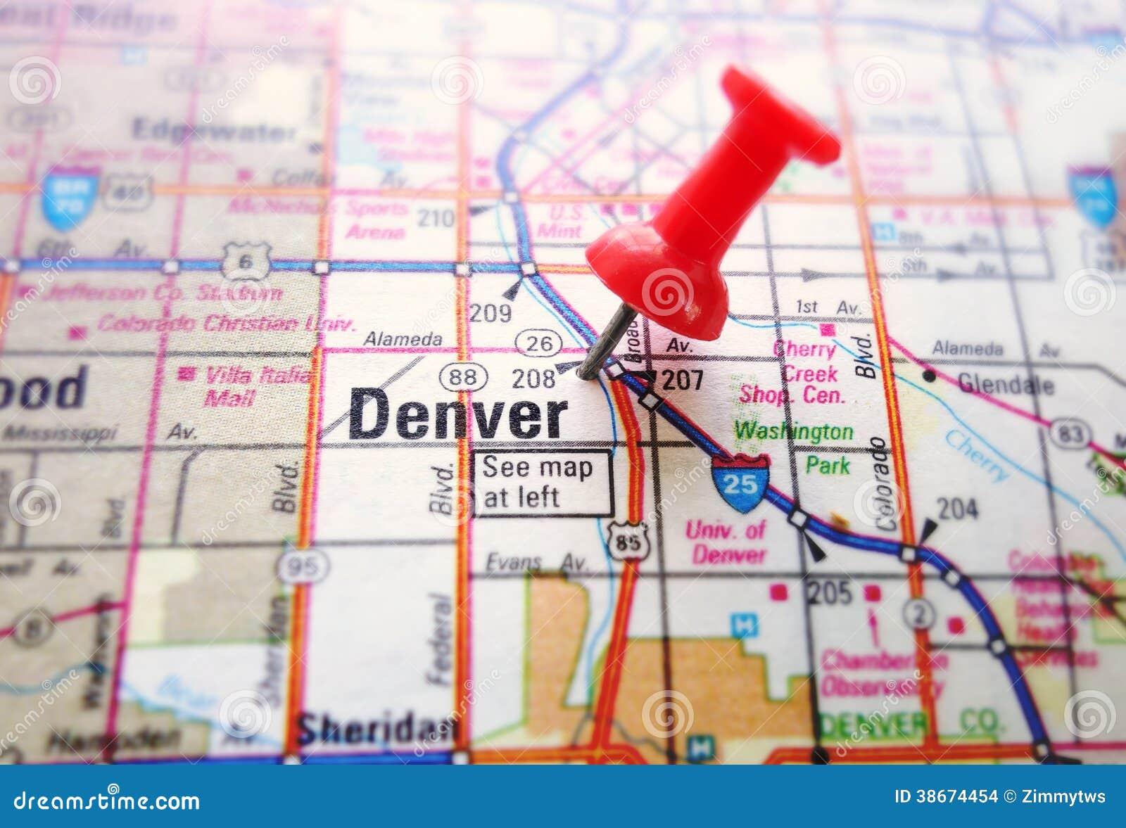 Carte de Denver
