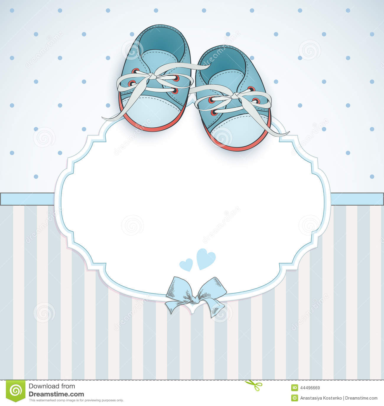 Carte de douche de bébé garçon