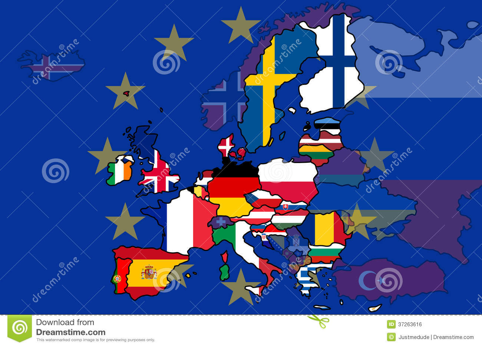 Carte de drapeau d 39 union europ enne image libre de droits - La chambre des preteurs de l union europeenne ...