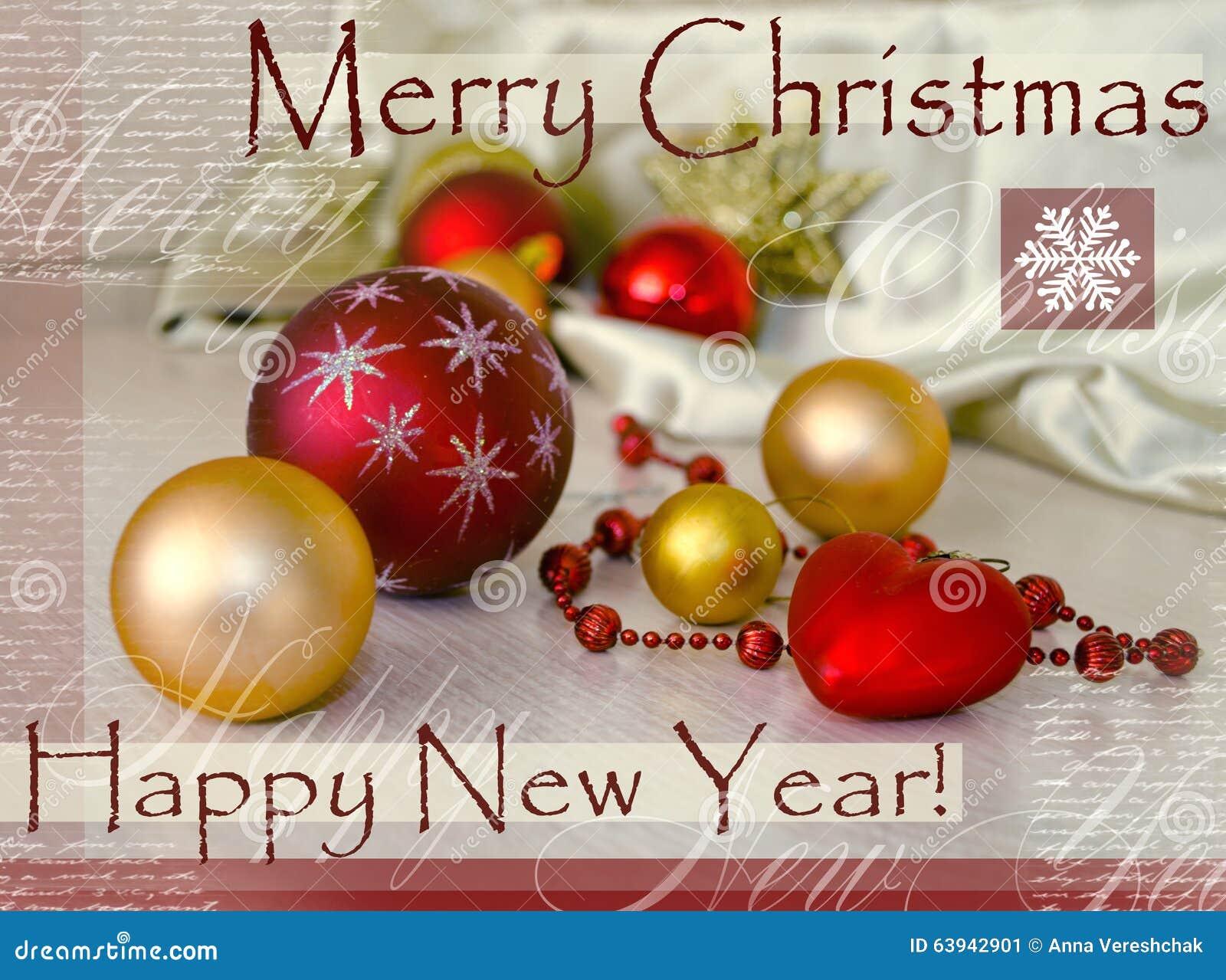 Carte Bonne Fete Noel.Carte De Fete De Joyeux Noel Et De Bonne Annee Avec La