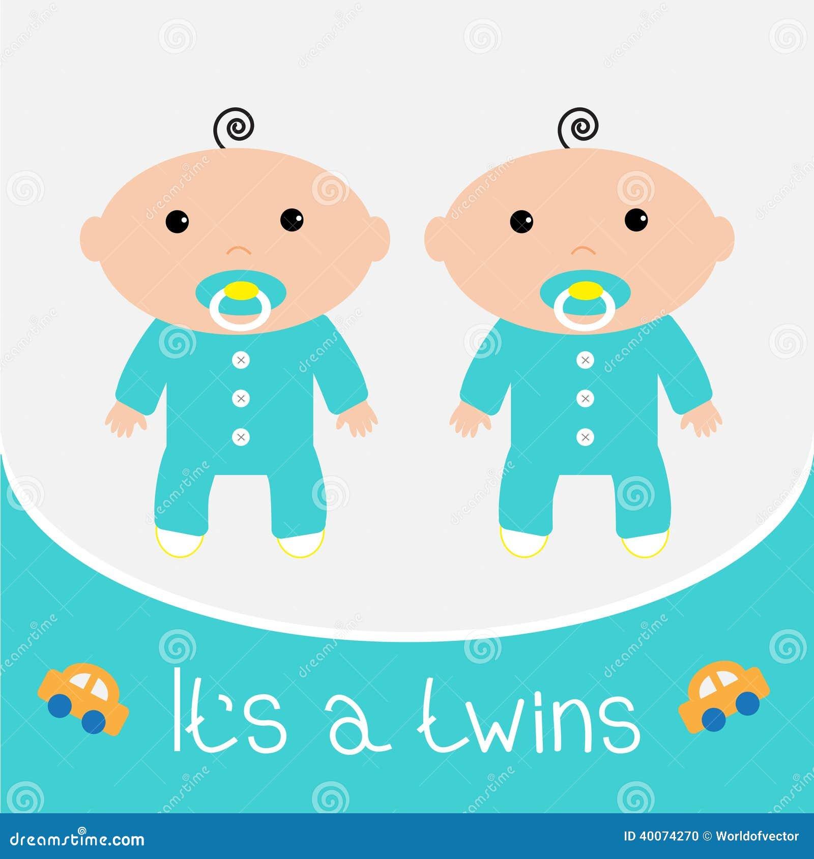 Carte de f te de naissance elle est des gar ons de jumeaux illustration de vecteur image - Fotos van de bebe garcon ...