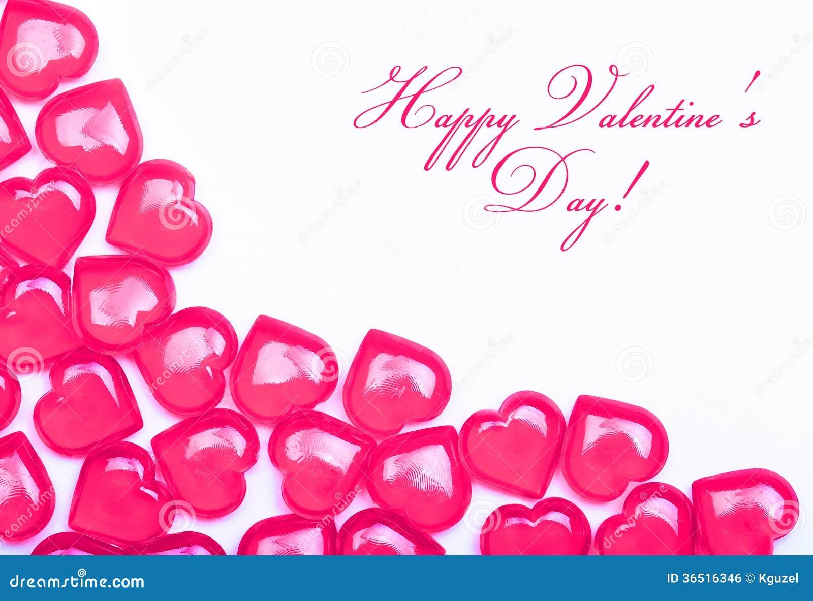Carte de jour de valentines. Coeurs de roses indien d isolement