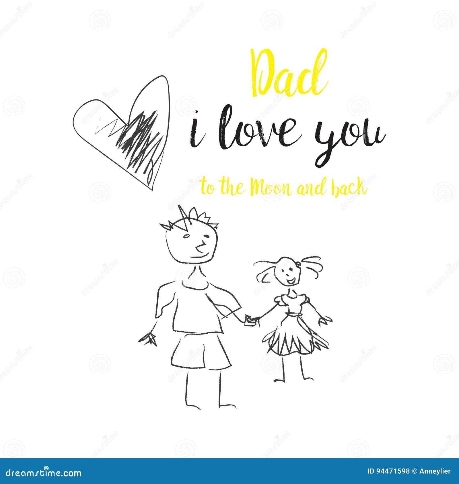 Carte de jour du ` s de père