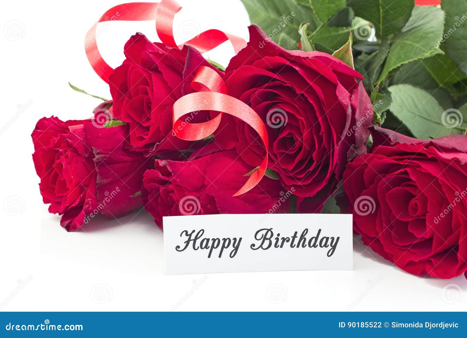 Carte Anniversaire Bouquet De Roses.Carte De Joyeux Anniversaire Avec Le Bouquet Des Roses