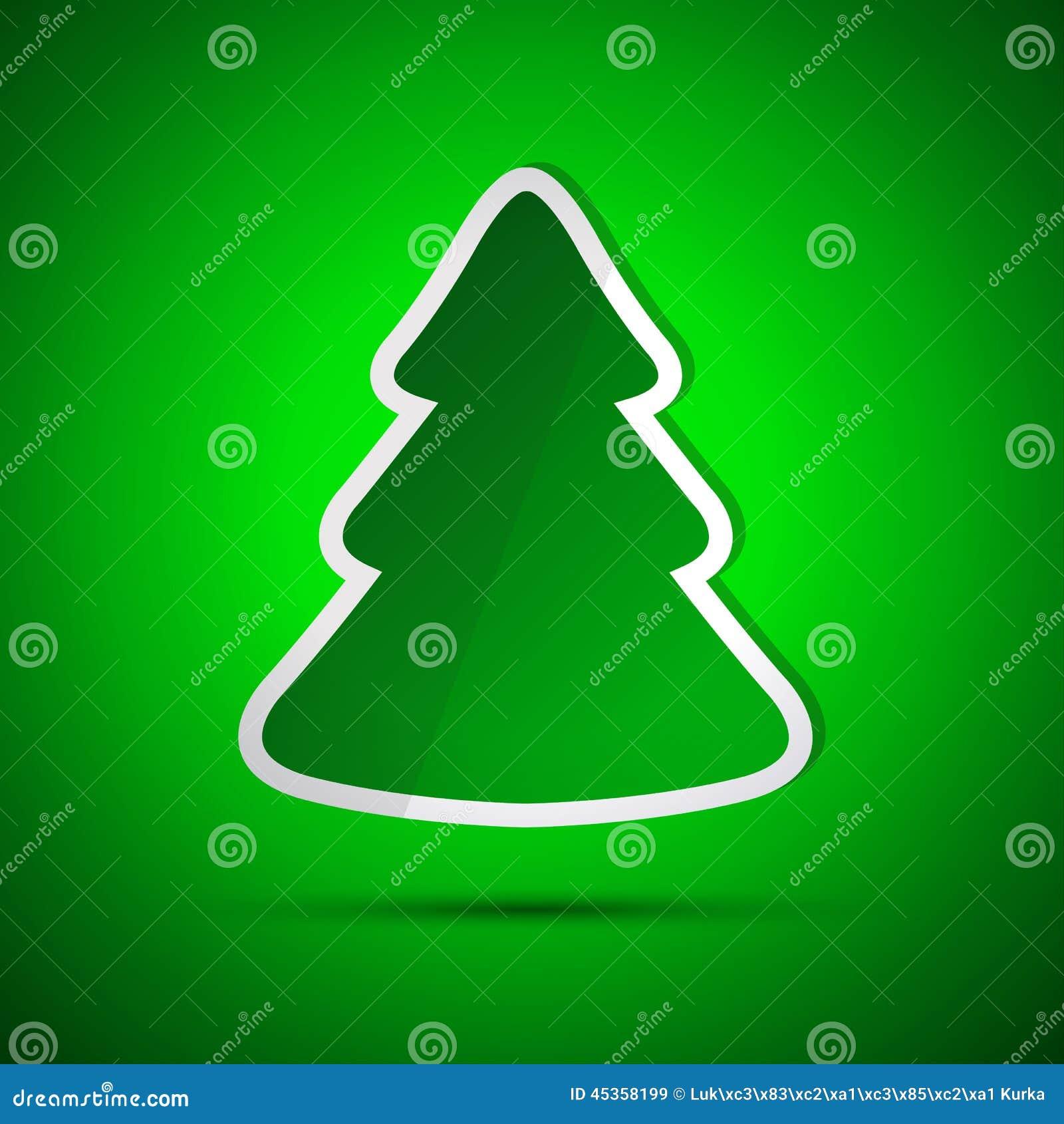 Carte de Joyeux Noël avec l arbre vert simple