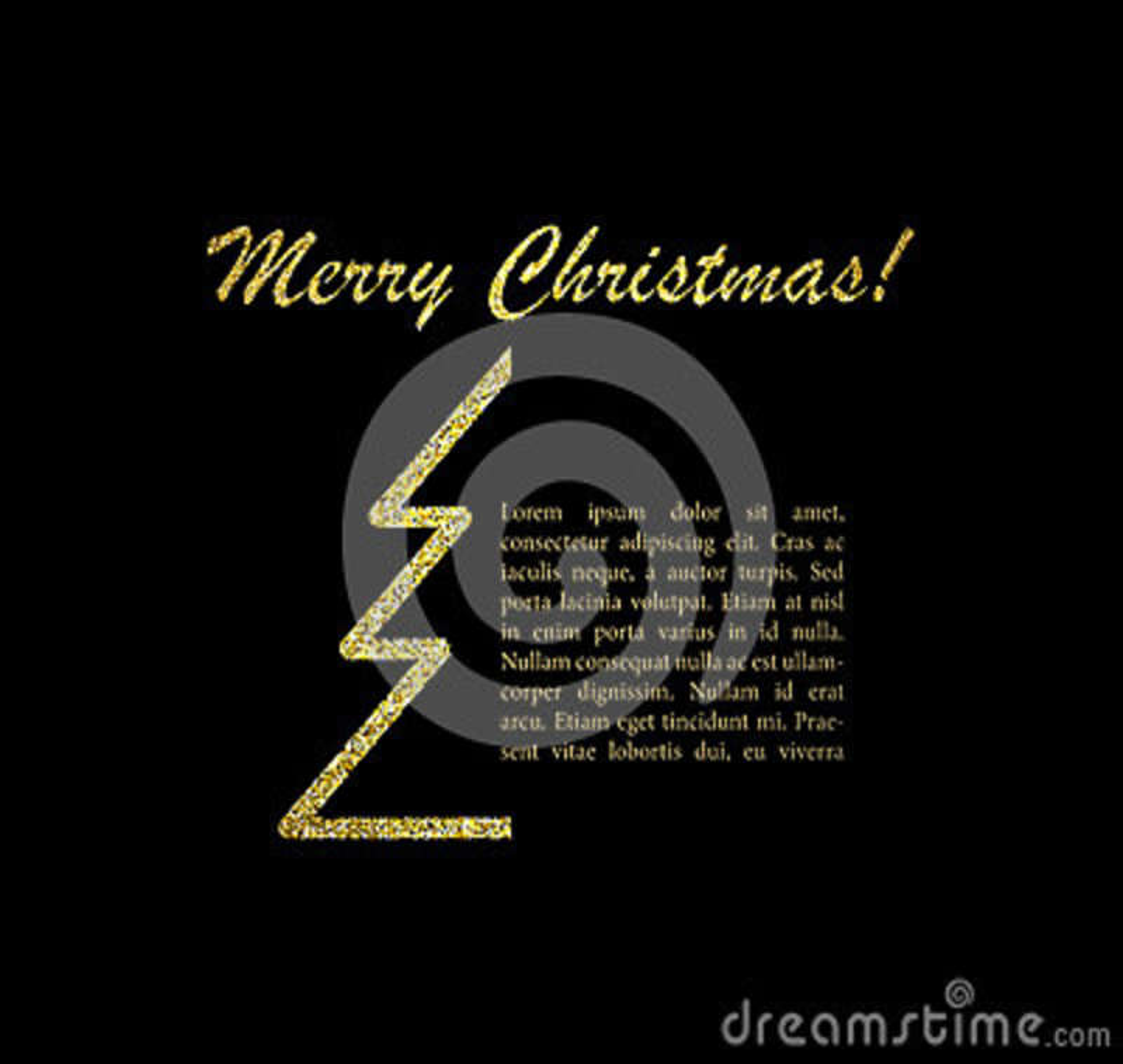 Carte de Joyeux Noël avec le texte Illustration de vecteur