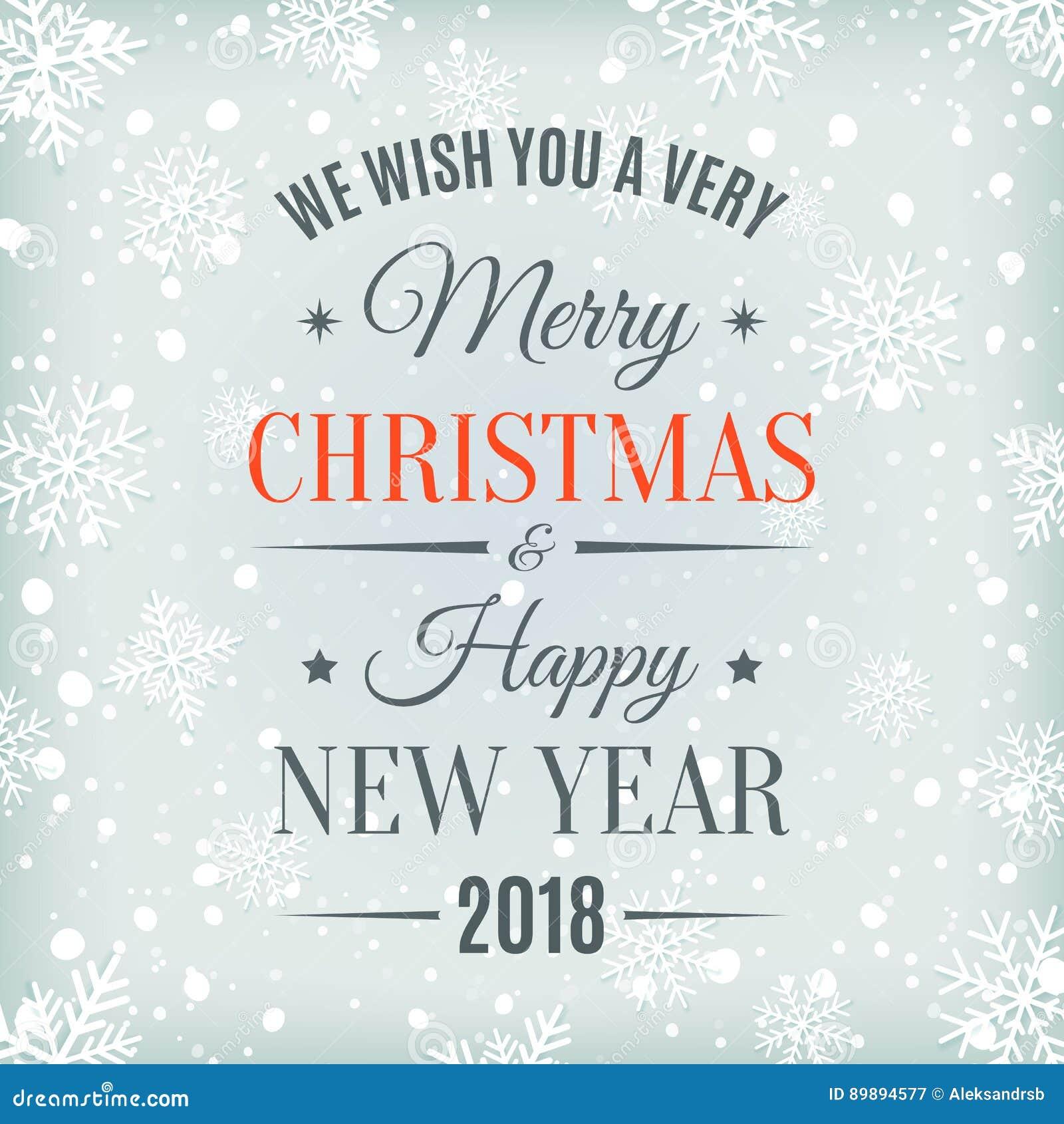 carte joyeux noel 2018 Carte De Joyeux Noël Et De Bonne Année 2018 Illustration de  carte joyeux noel 2018