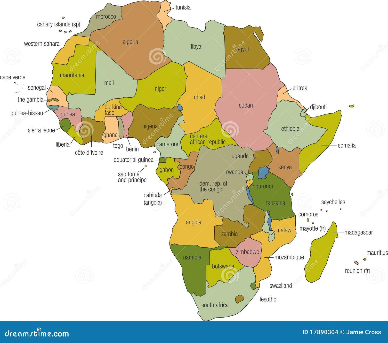 Carte de l Afrique