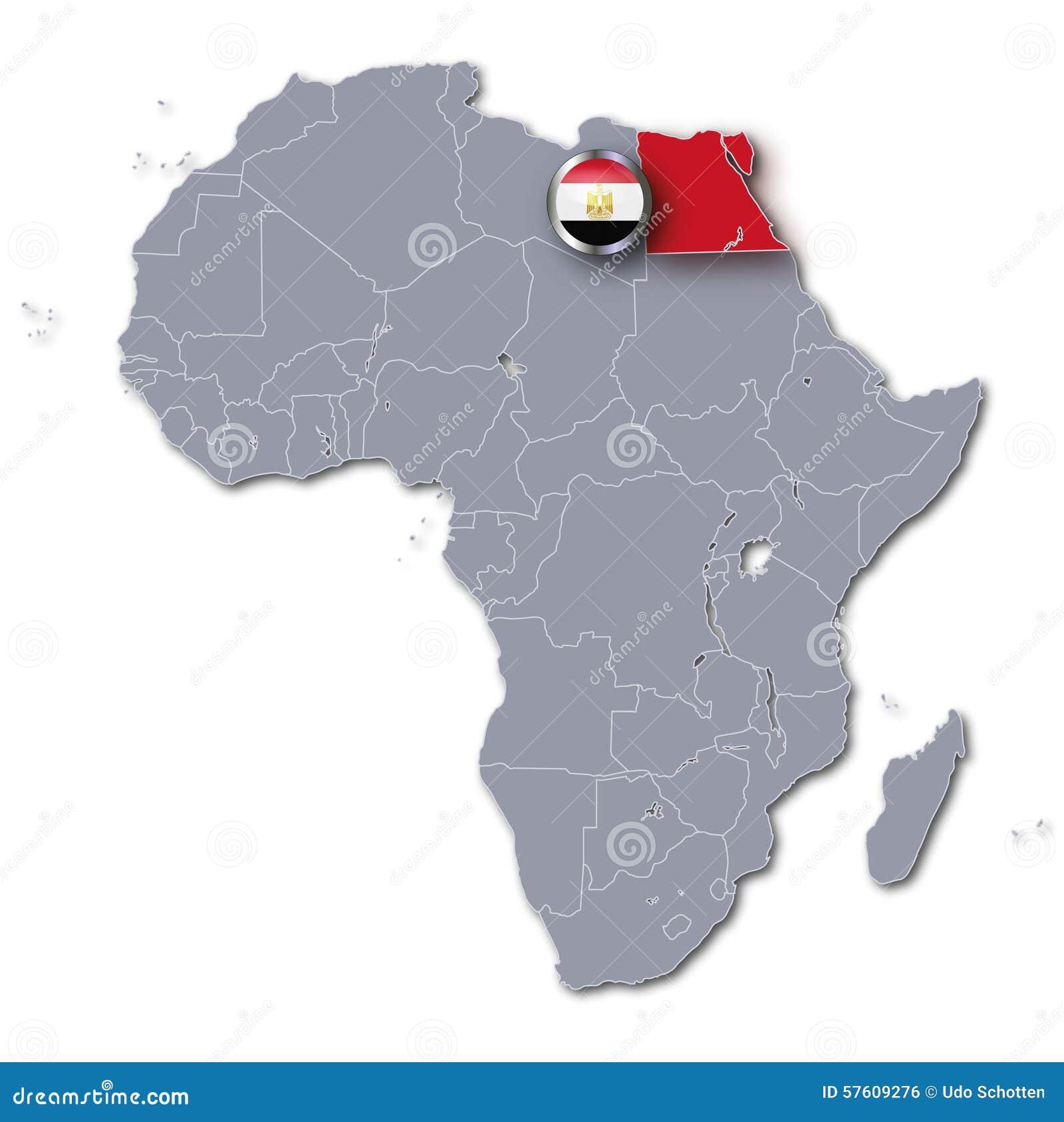 Carte Afrique Egypte.Carte De L Afrique Avec L Egypte Illustration Stock