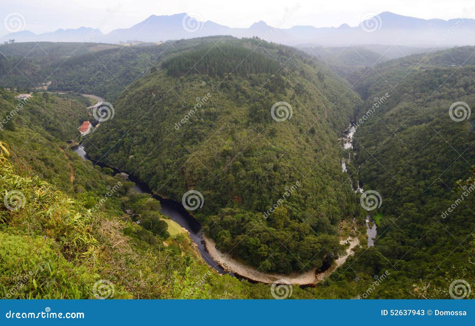Carte de l Afrique , photo aérienne du Kaaimans River Valley, parc national de région sauvage