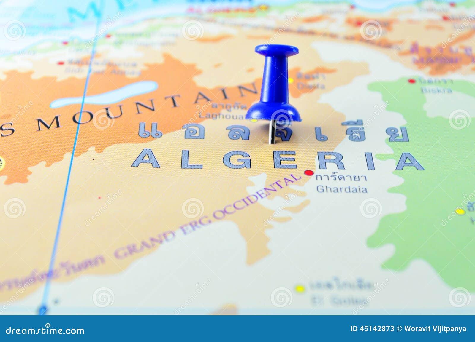 Carte de l Algérie