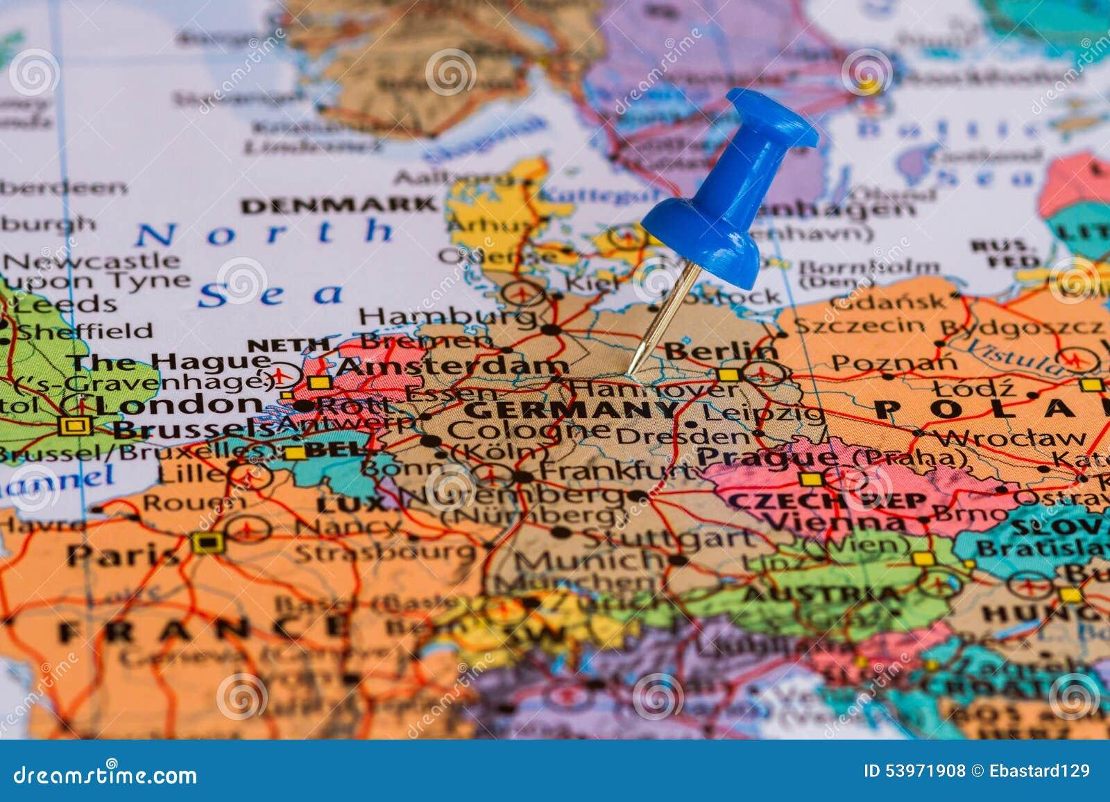 Carte Allemagne Hagen.Carte De L Allemagne Photo Stock Image Du Configuration