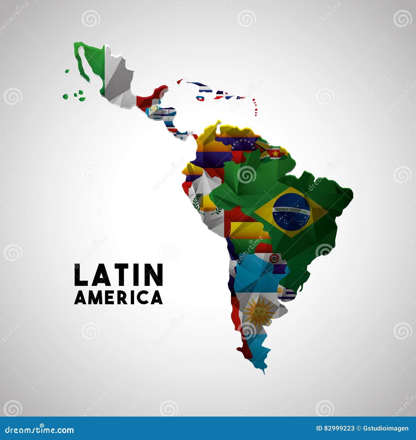 Carte Europe Latine.Carte De L Amerique Latine Illustration Stock Illustration