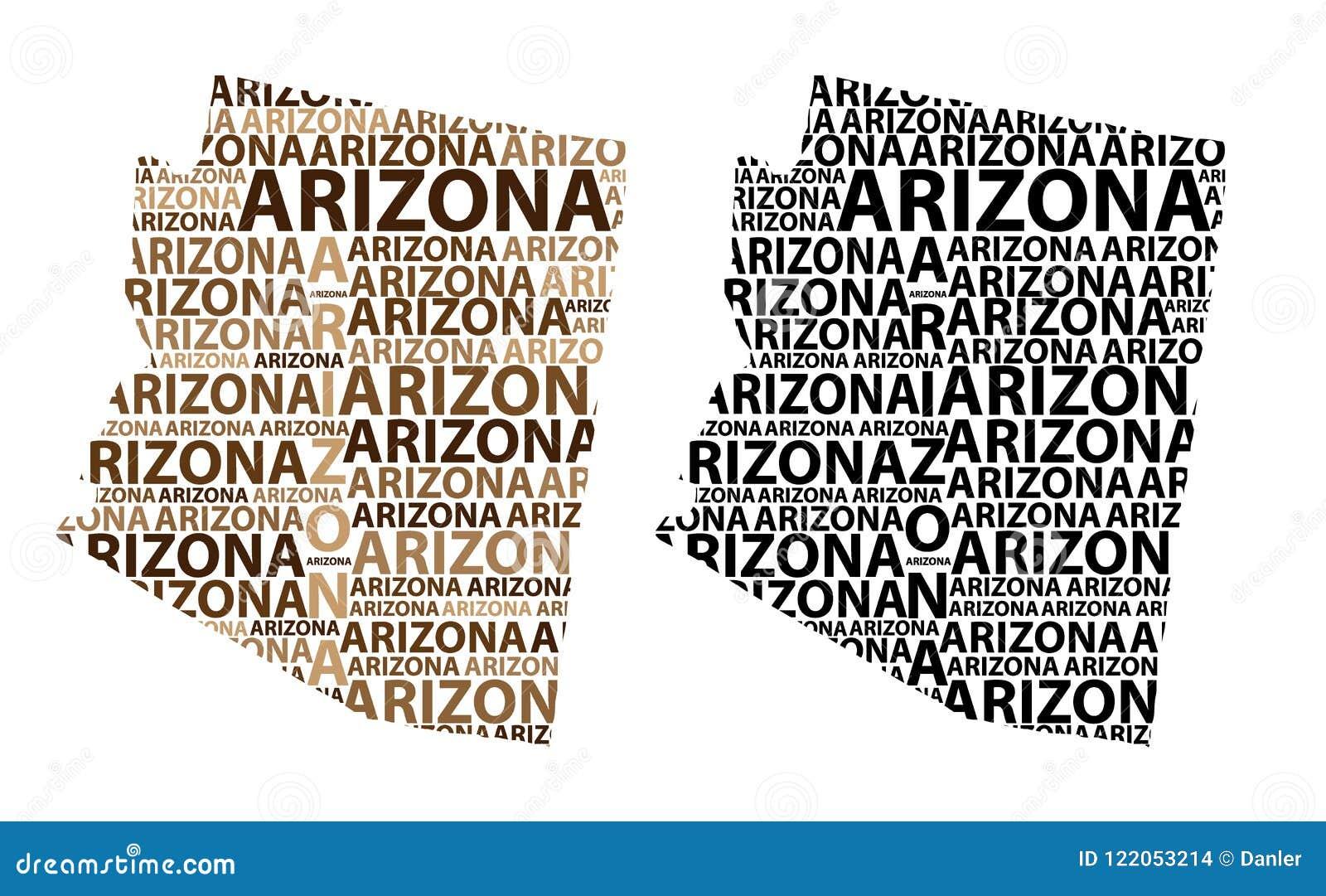 Carte de l Arizona - illustration de vecteur