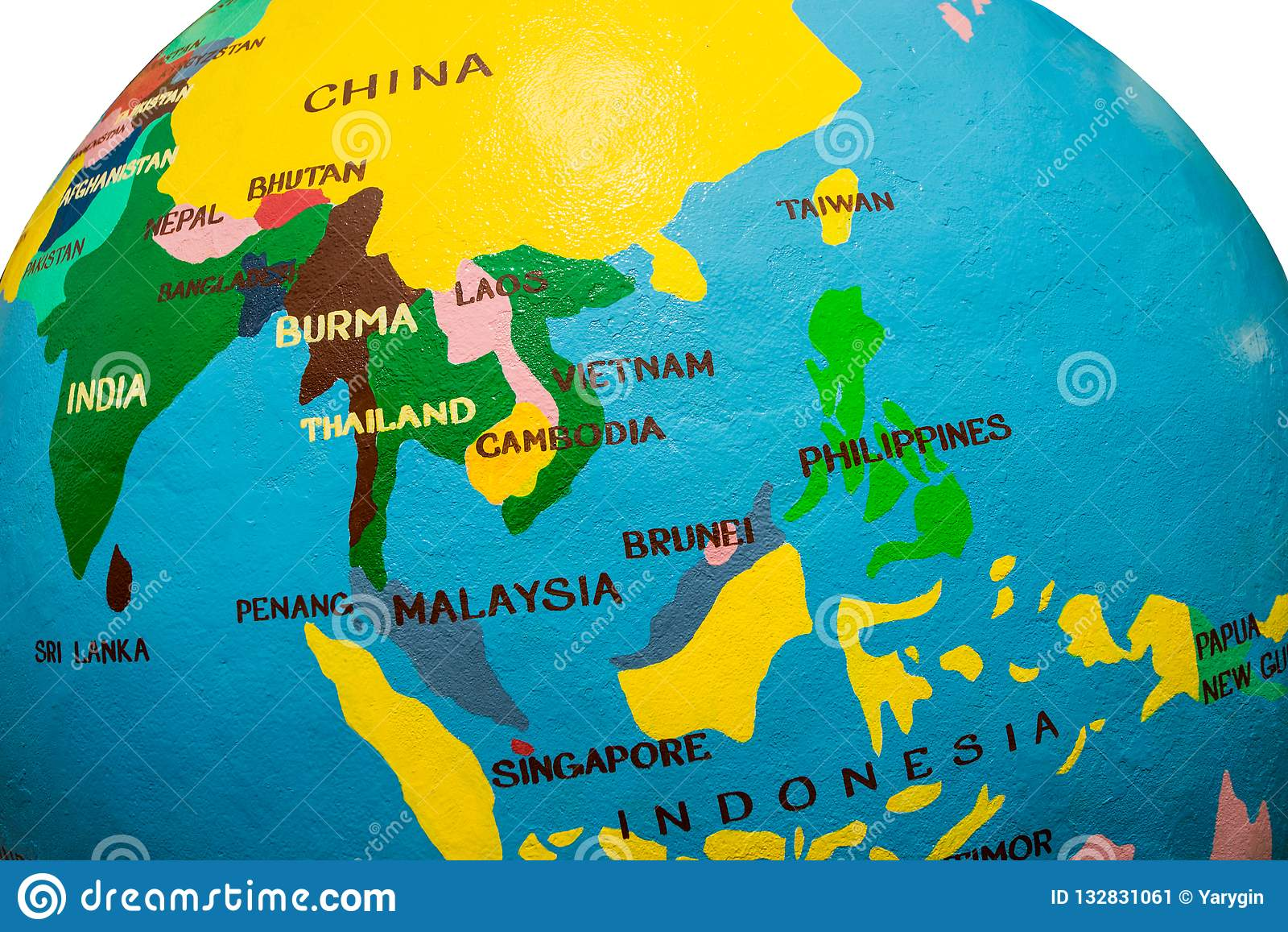 Carte de l Asie
