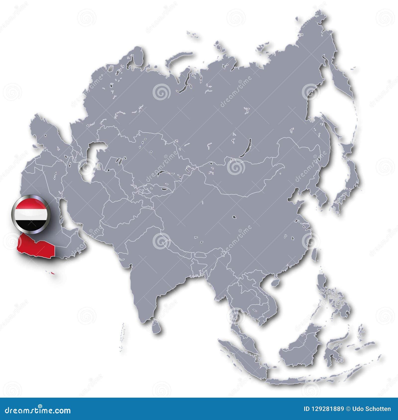 Carte de l Asie avec le Yémen