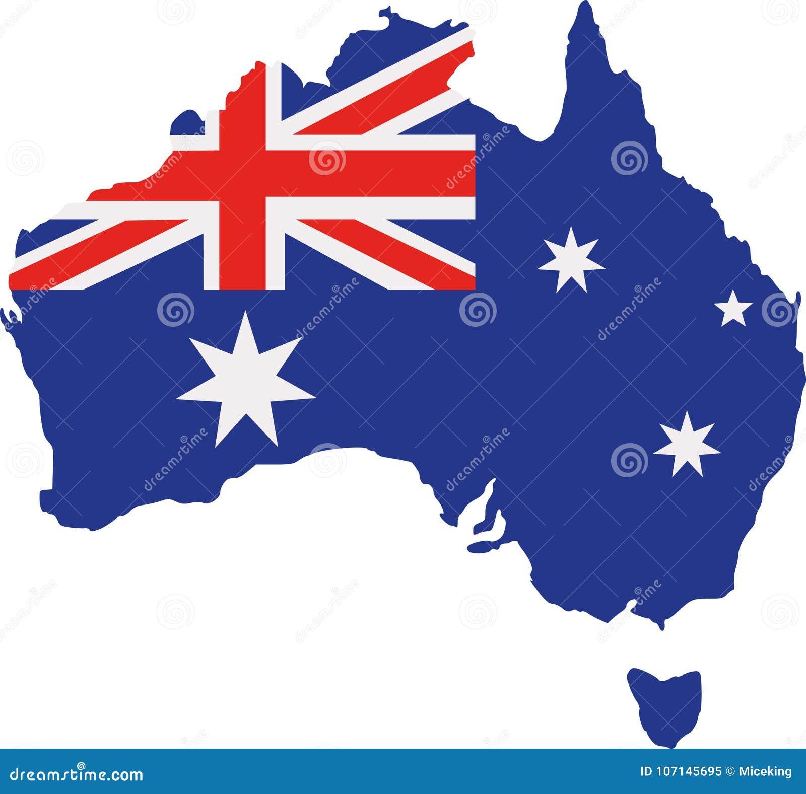 Carte de l Australie avec l indicateur