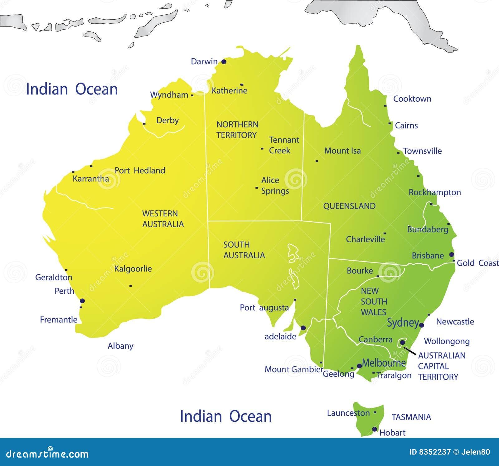 Cartes de l\'Australie | Dictionary Bank