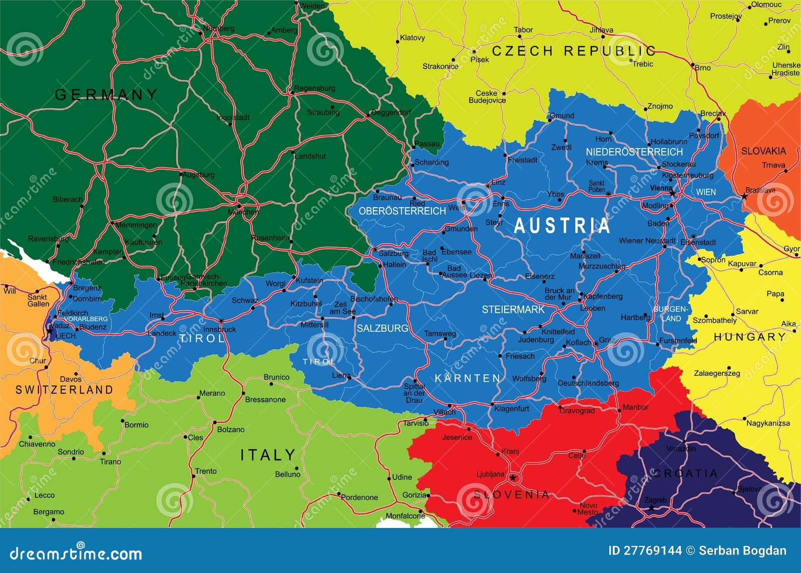 Carte de l Autriche