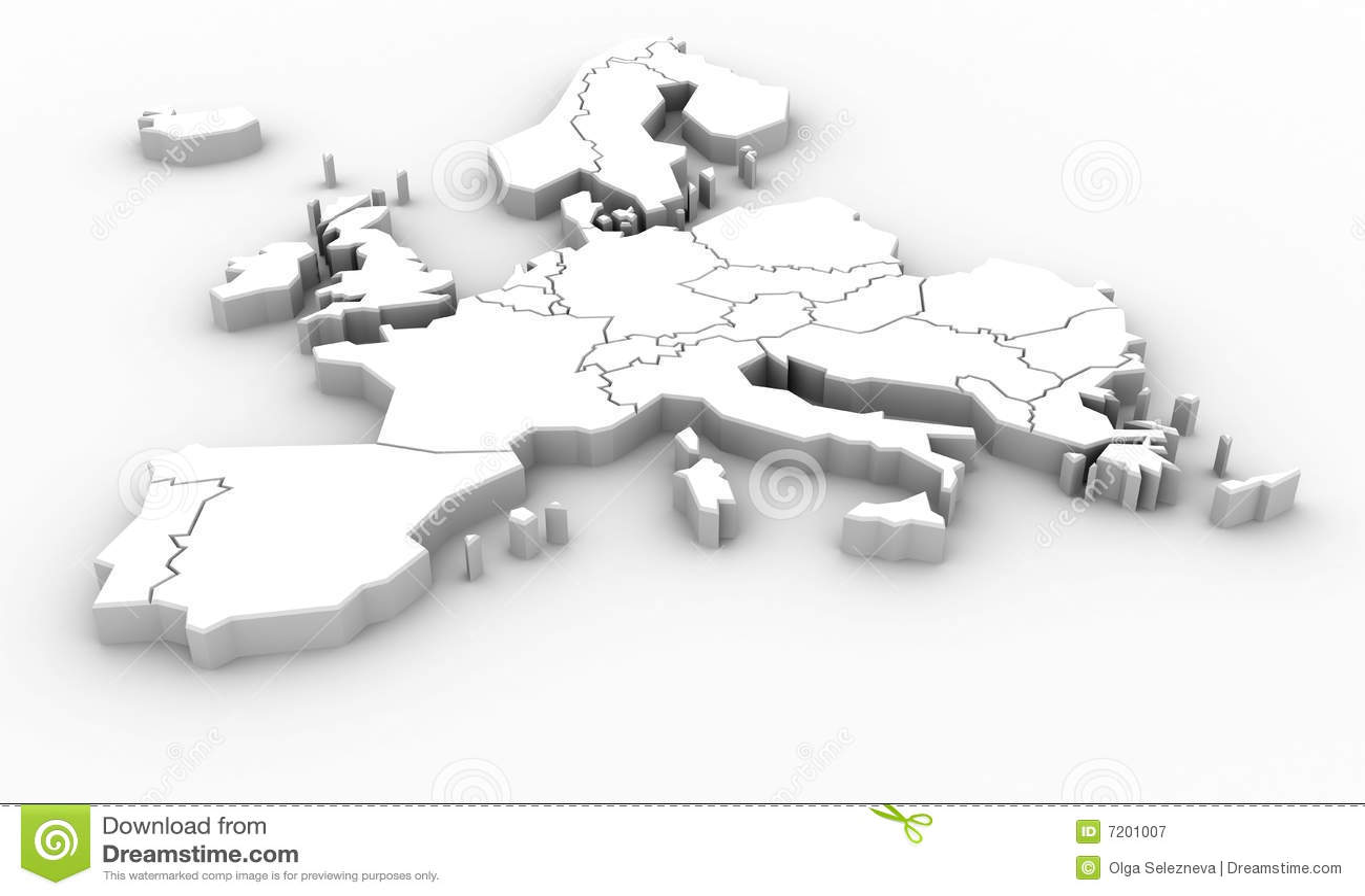 carte europe 3d gratuite