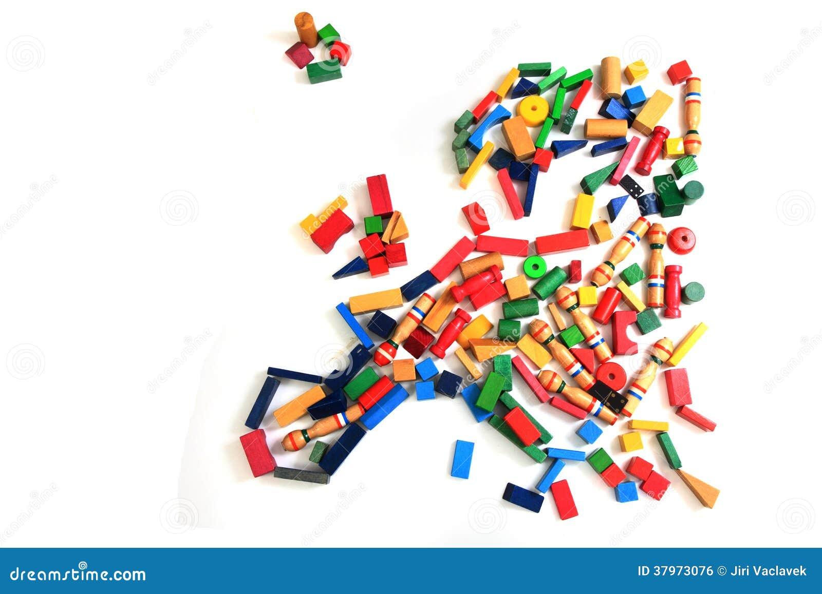 carte de l 39 europe des briques en bois de couleur photo stock image du pays pile 37973076. Black Bedroom Furniture Sets. Home Design Ideas