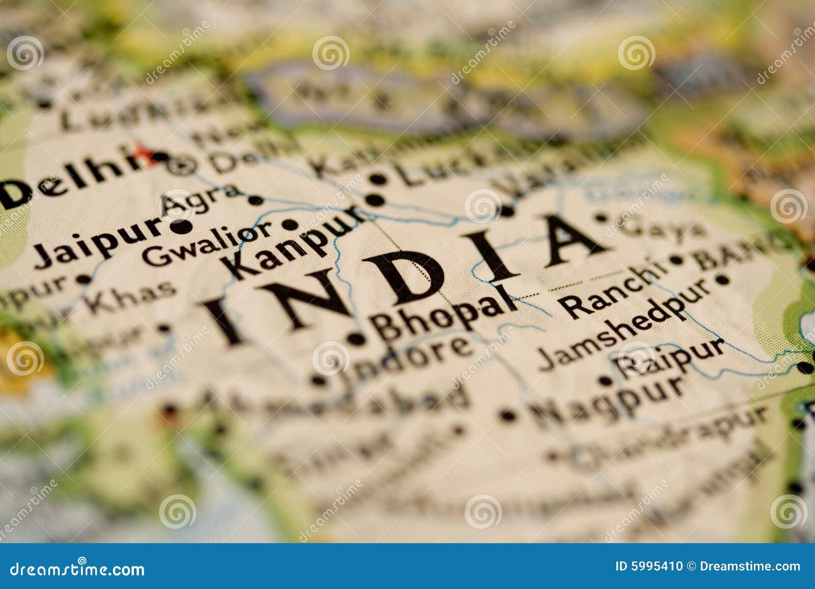 Carte de l Inde