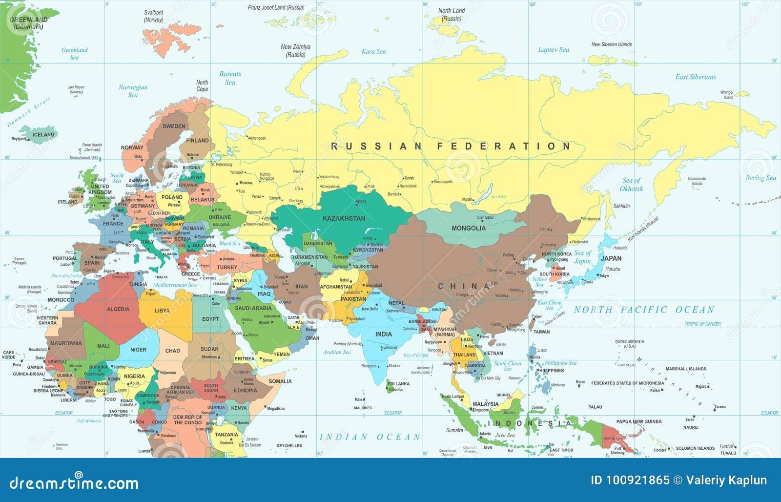 Thailande Et Indonesie Carte.Carte De L Indonesie Thailande Afrique D Inde De La Russie