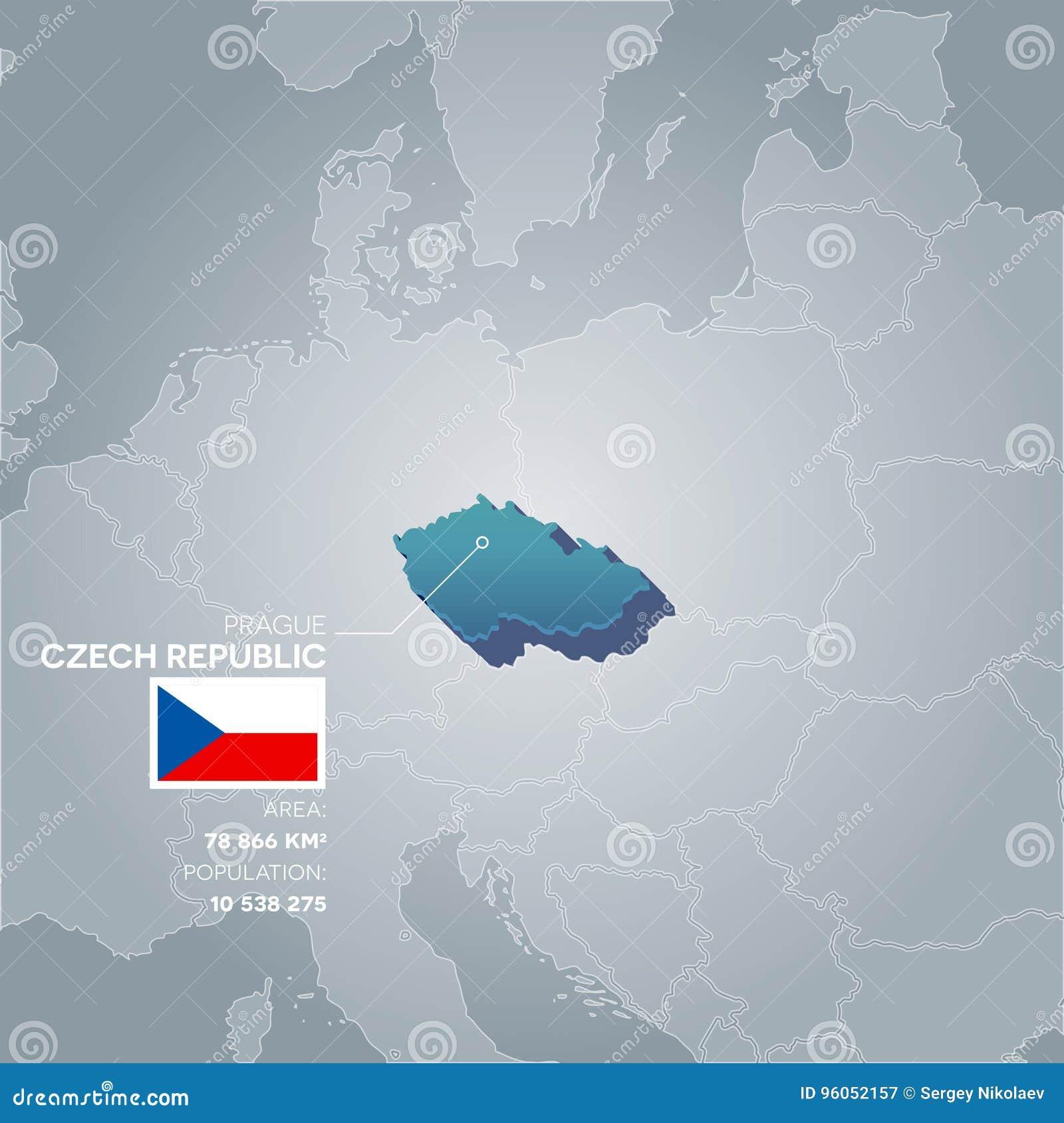 Carte de l information de République Tchèque