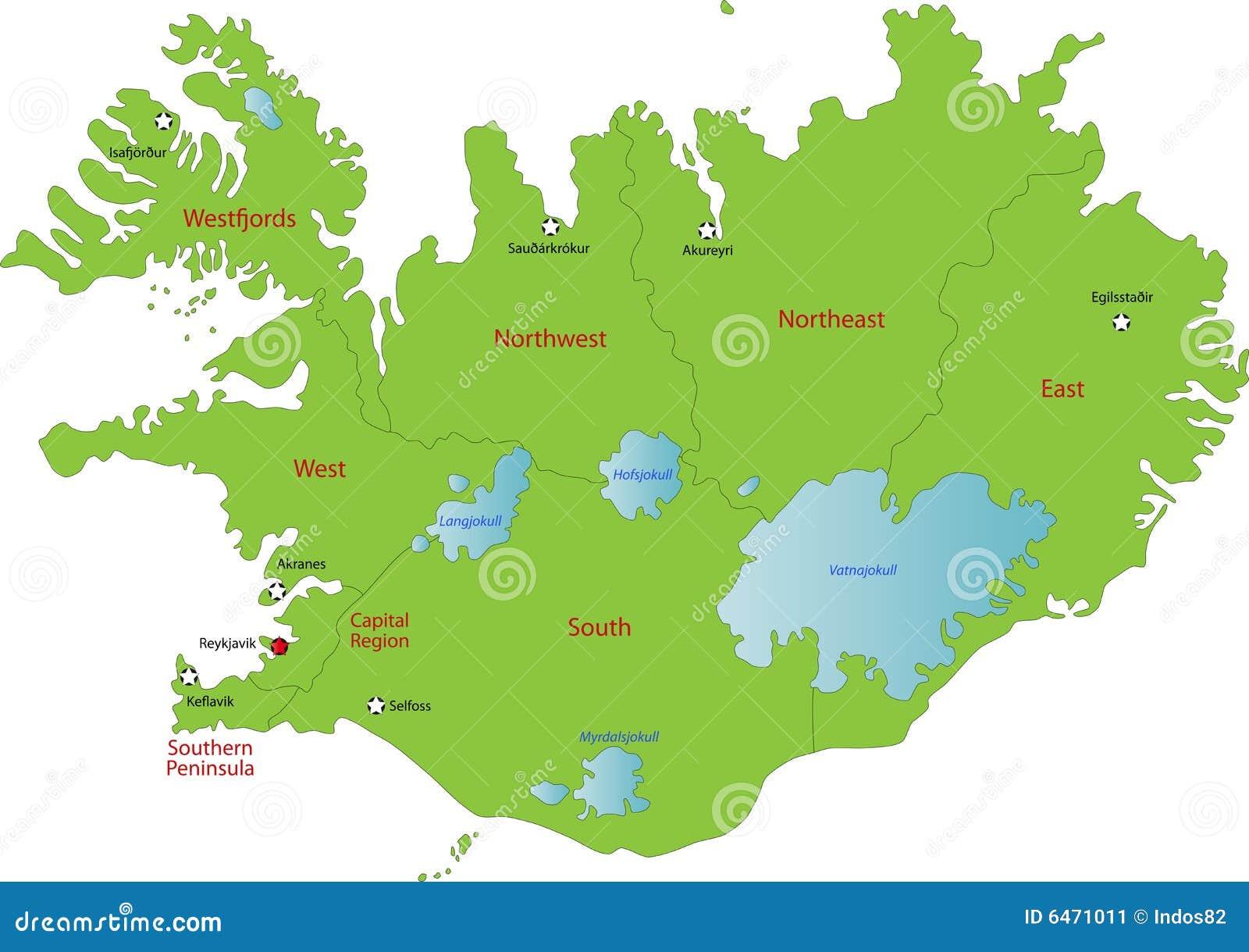 Dverghamrar Islande Map