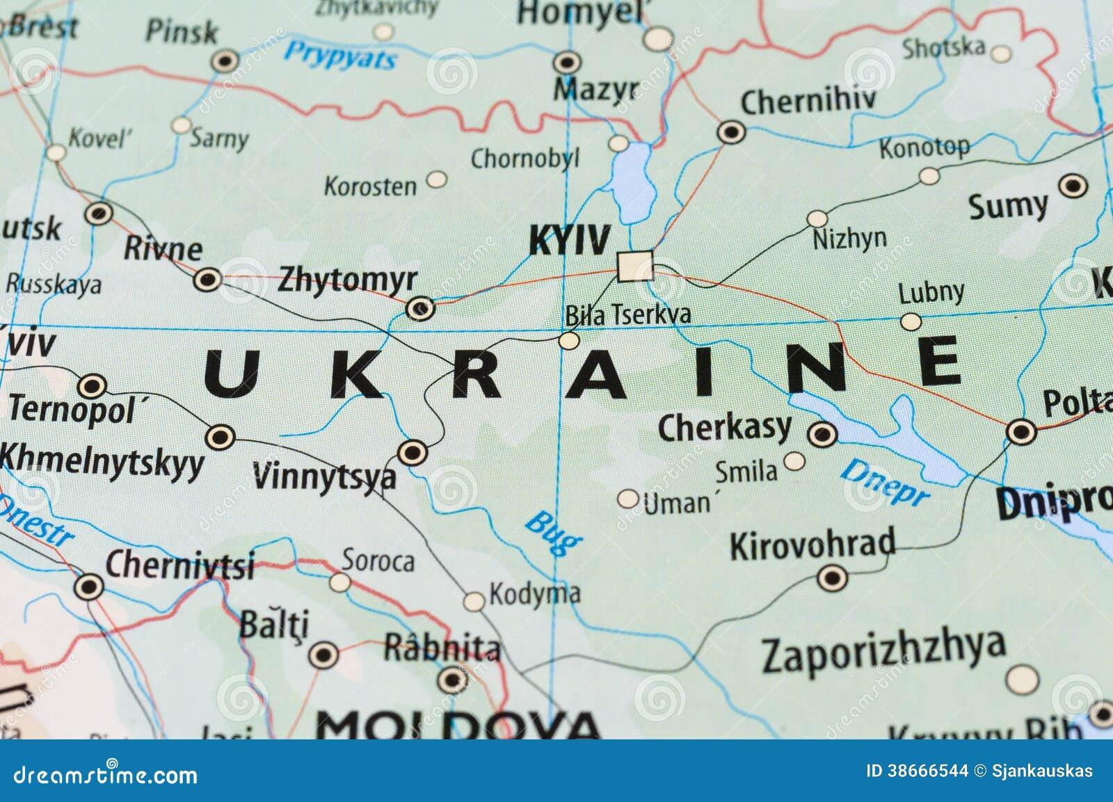 Carte de l Ukraine