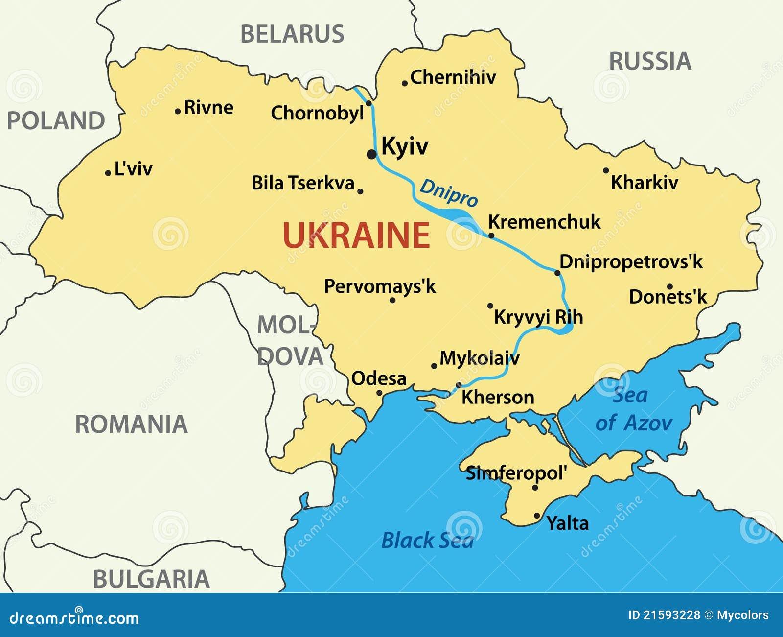 Carte De L'Ukraine - Vecteur D'illustration Illustration de Vecteur - Illustration du slavic ...