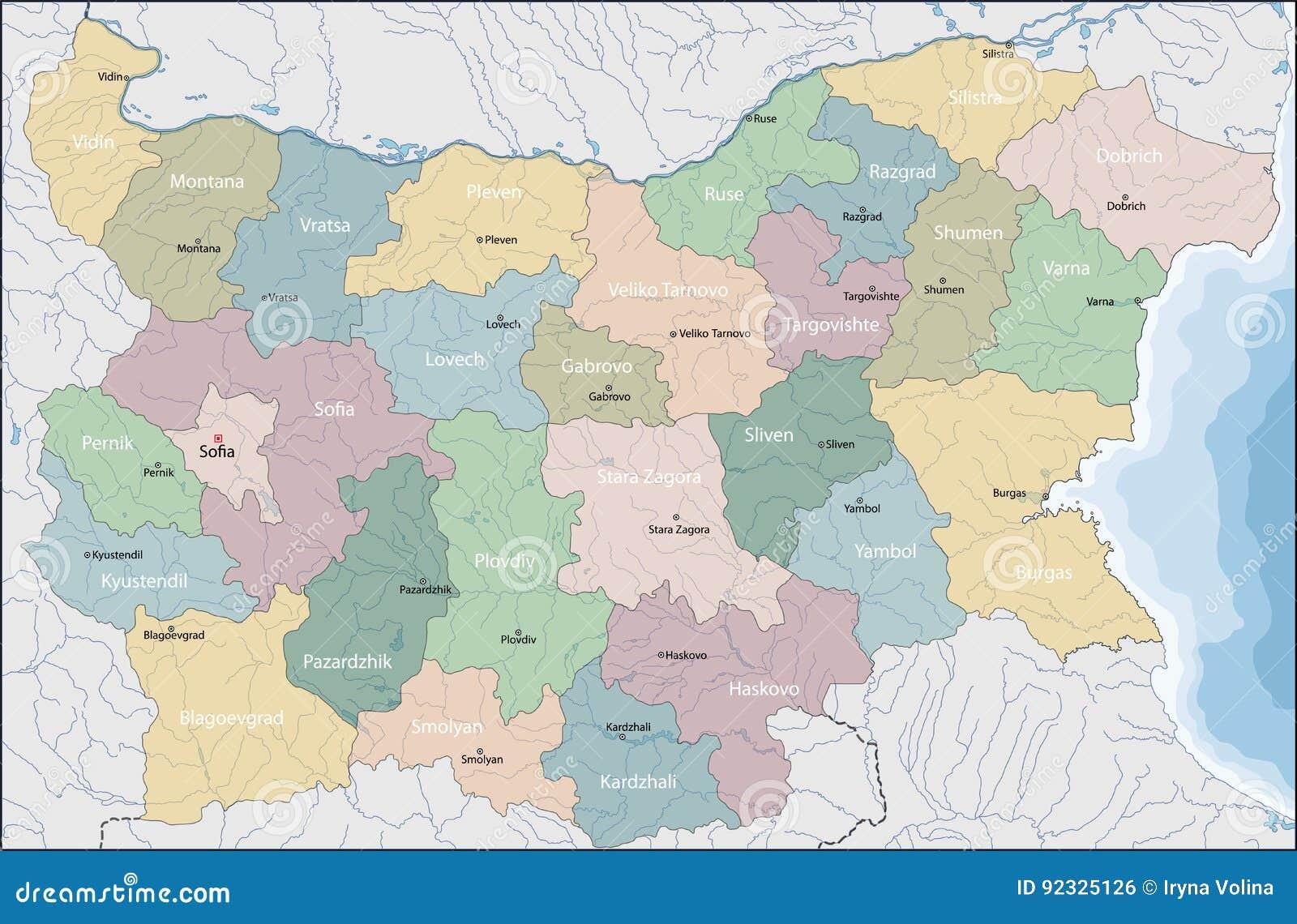 Carte Europe Du Sud Est.Carte De La Bulgarie Illustration De Vecteur Illustration Du Carte