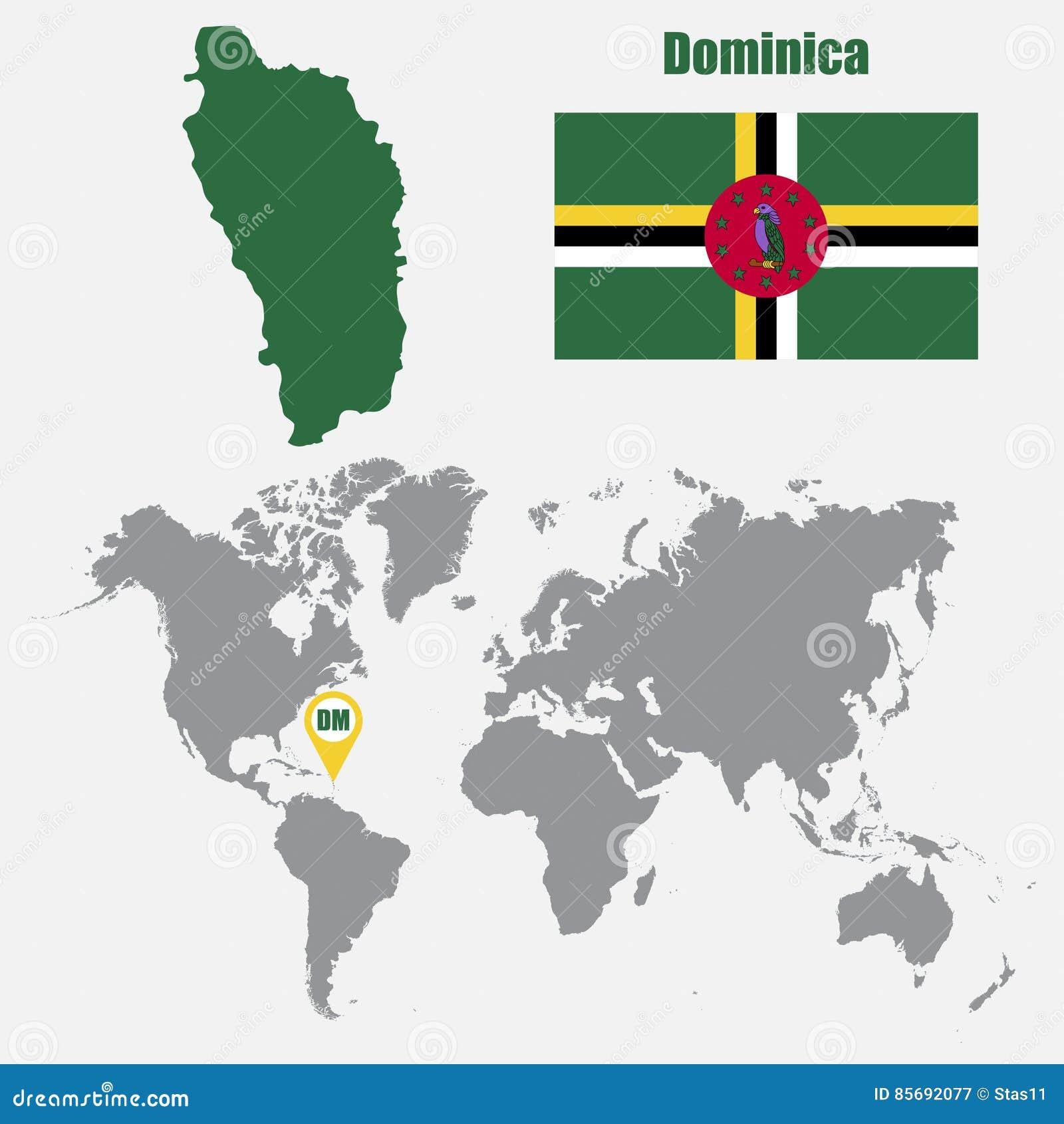 la dominique carte du monde