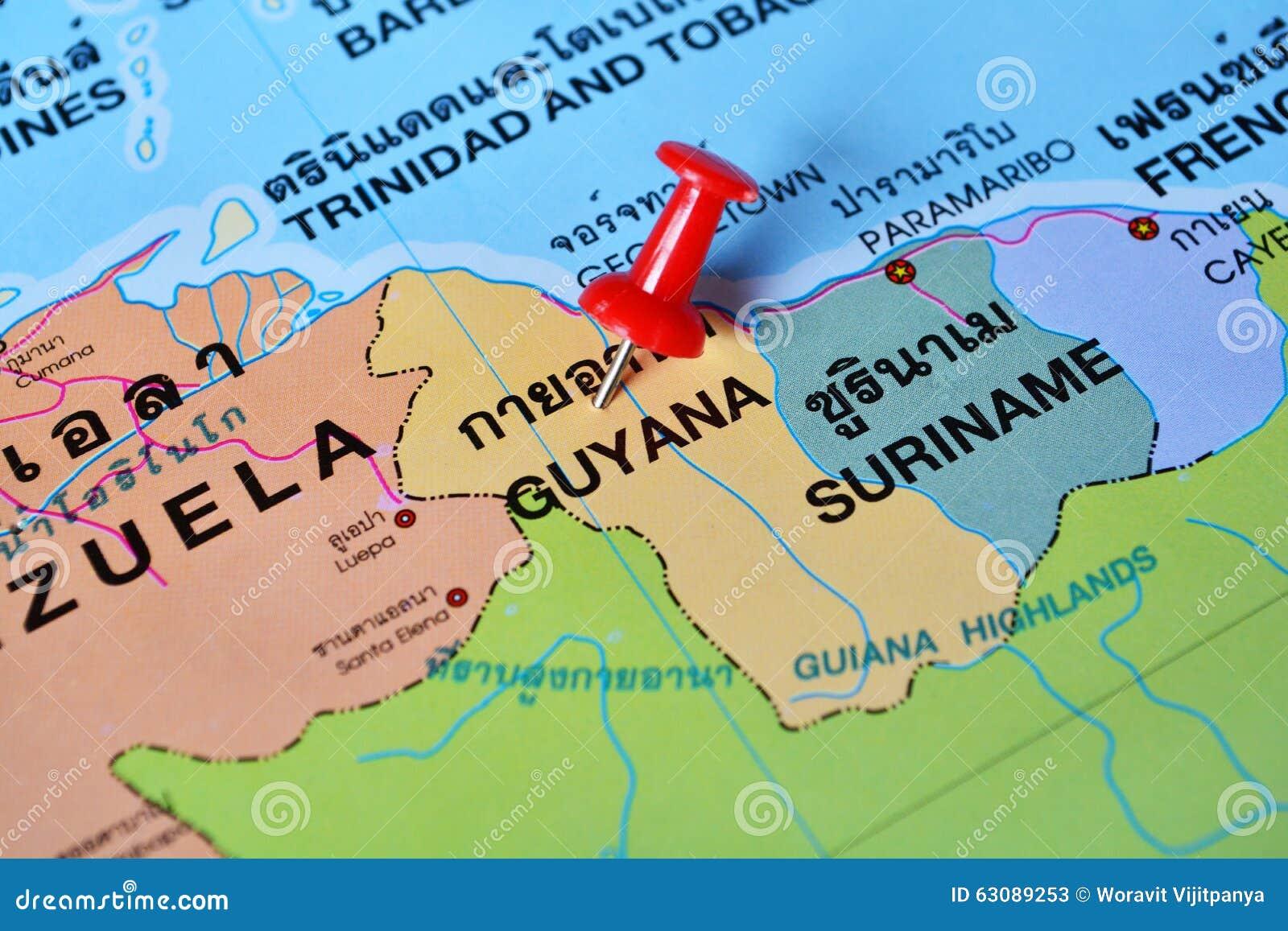 Download Carte de la Guyane image stock. Image du capital, destination - 63089253